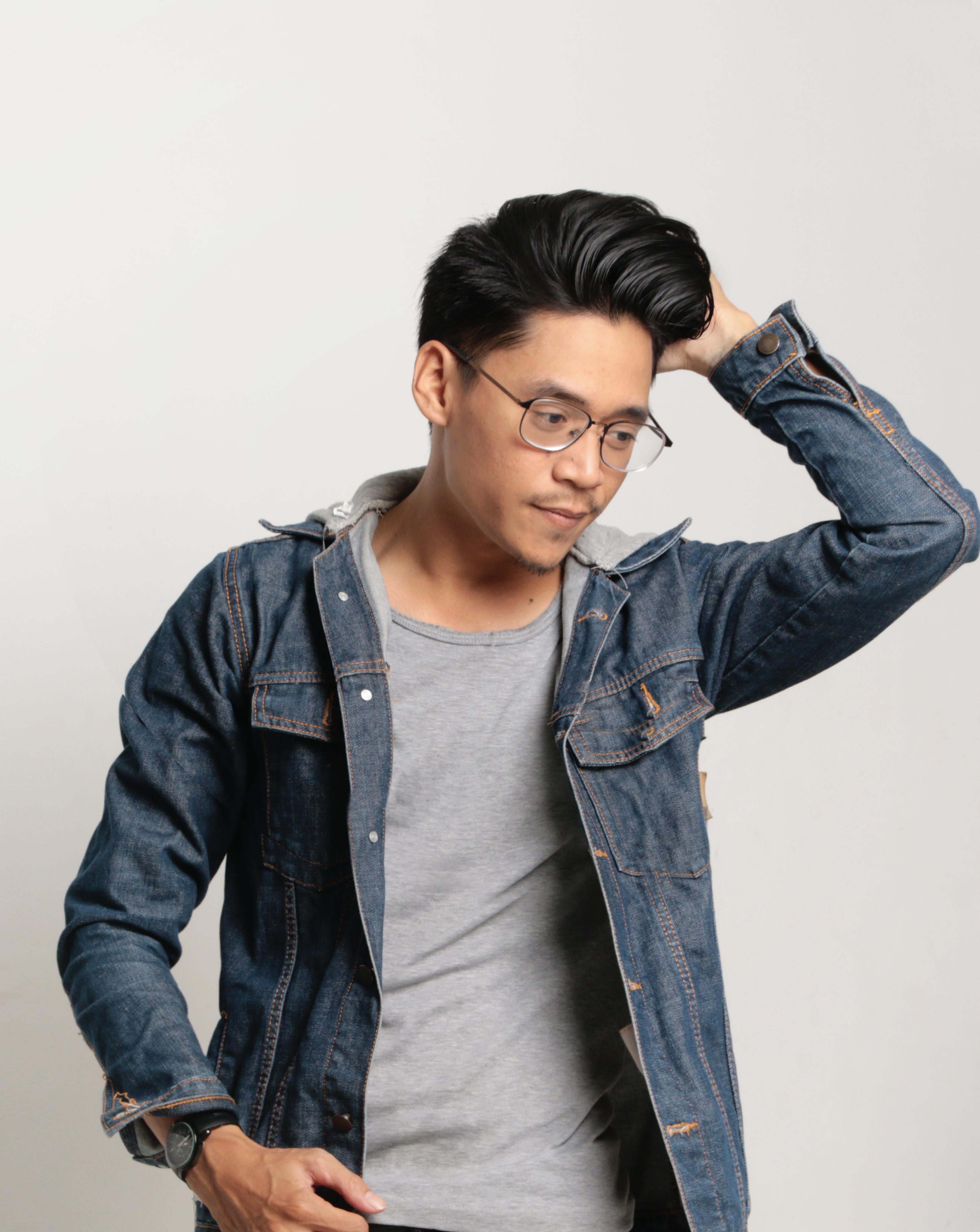Free Images : model, man, denim, jeans, cool, blue, shoulder