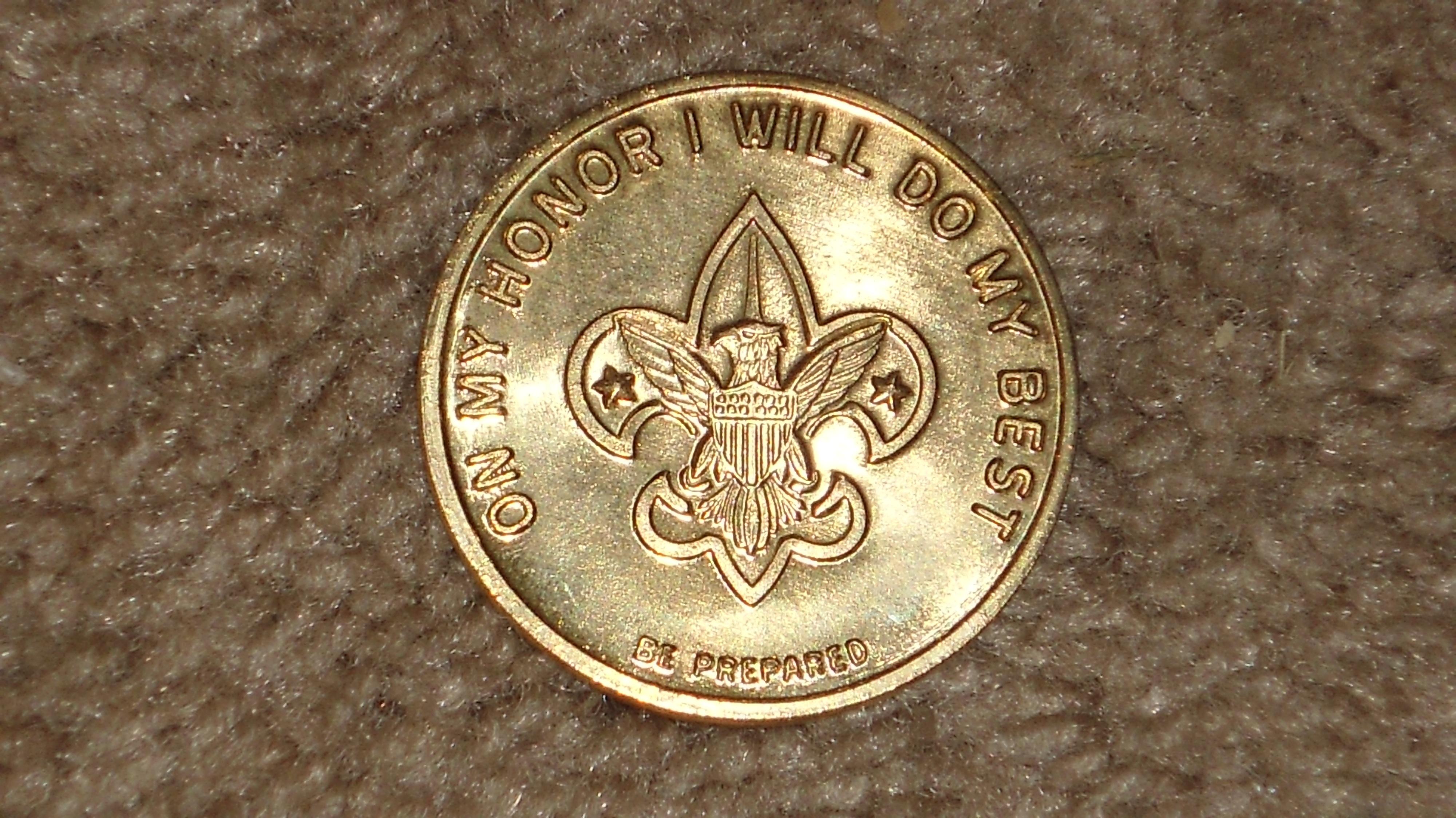 I Soldi Oro Argento Moneta Moneta Medaglia Premio Accessorio Di Moda Scout  Essere Preparato Fare Del