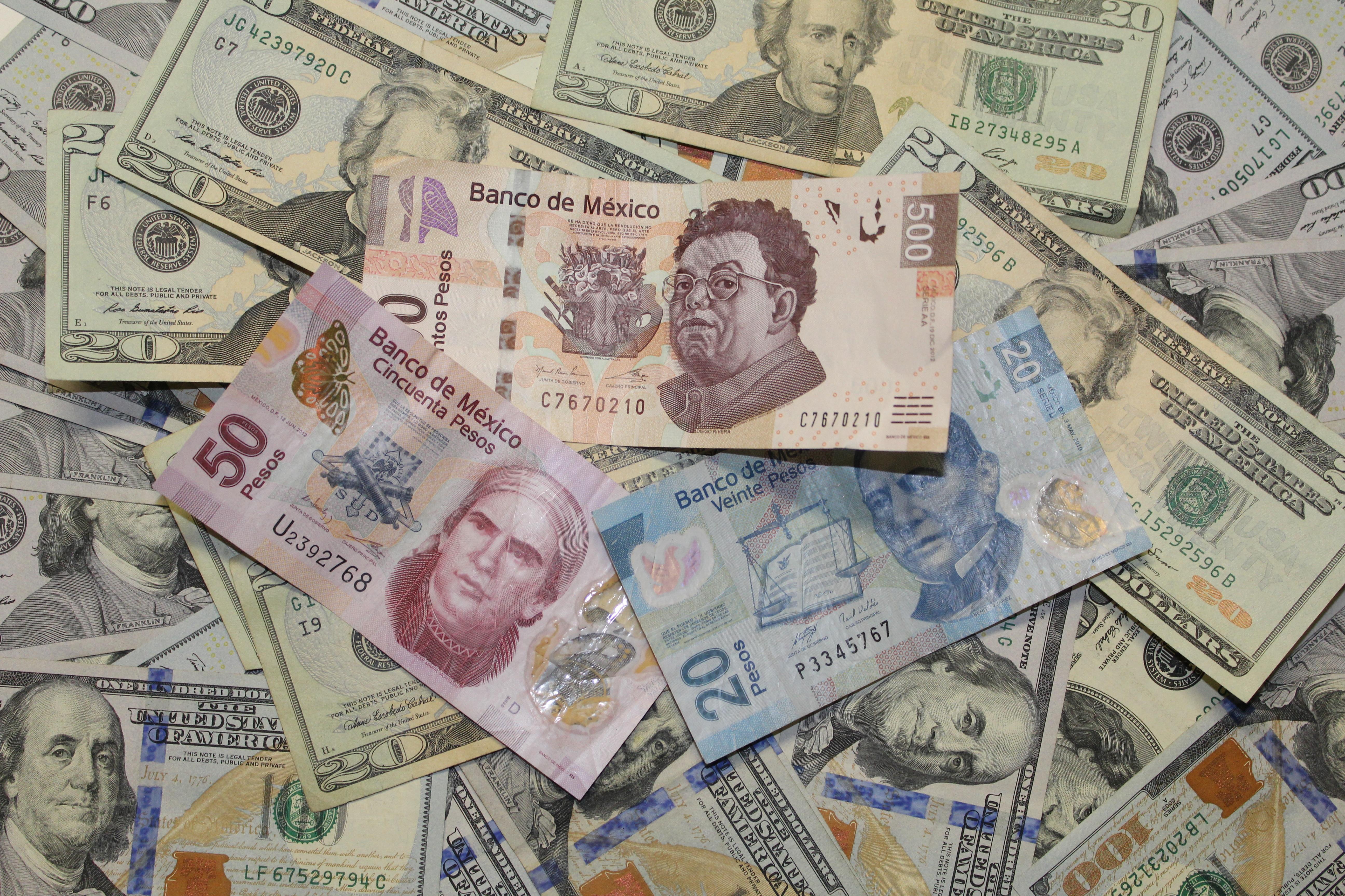 Dinero Papel Efectivo Moneda Dólar 50 100 20 500 Mexicano Intercambiar Billete De Banco Peso