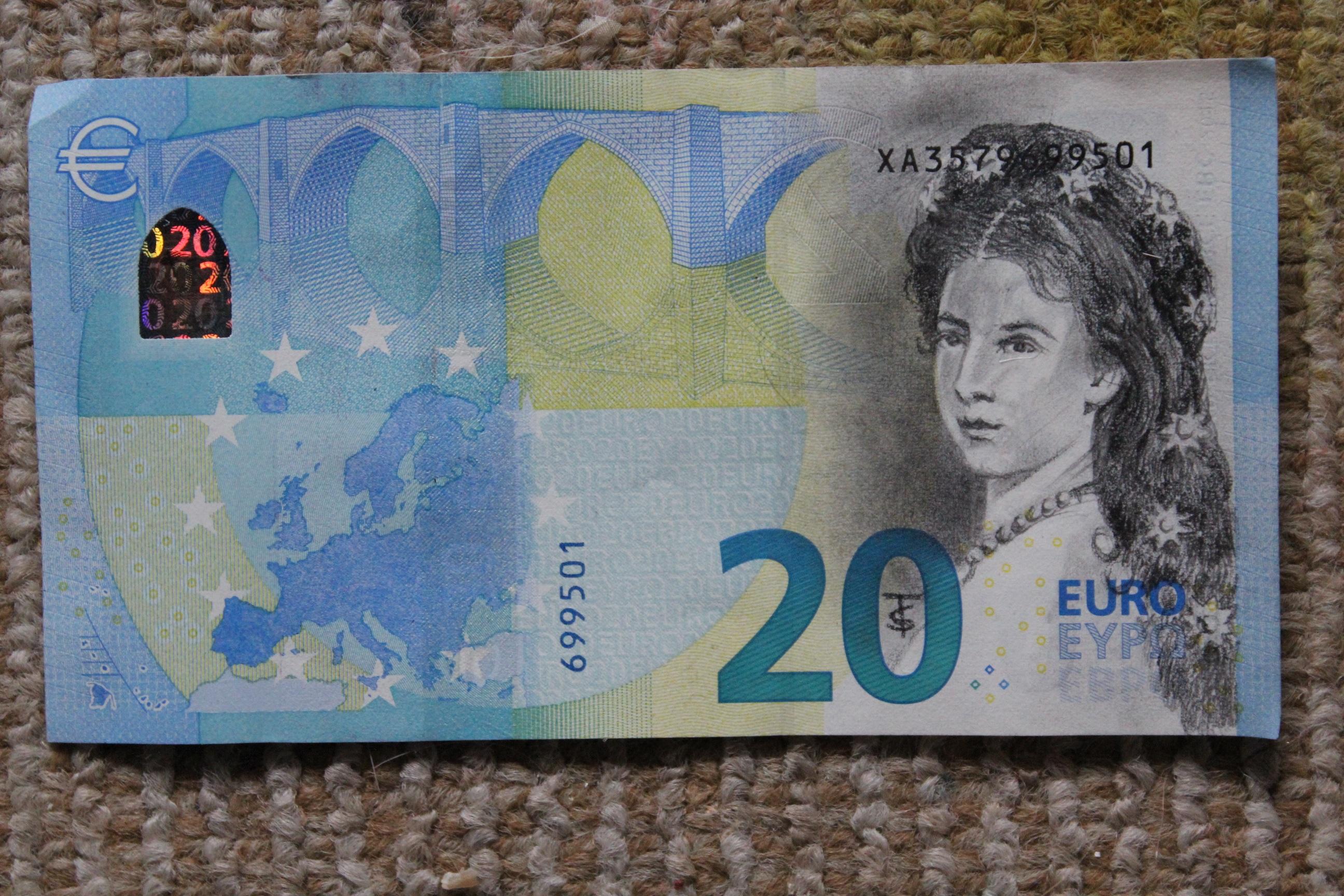 Bildet Penger Papir Materiale østerrike Kunst Valuta Seddel