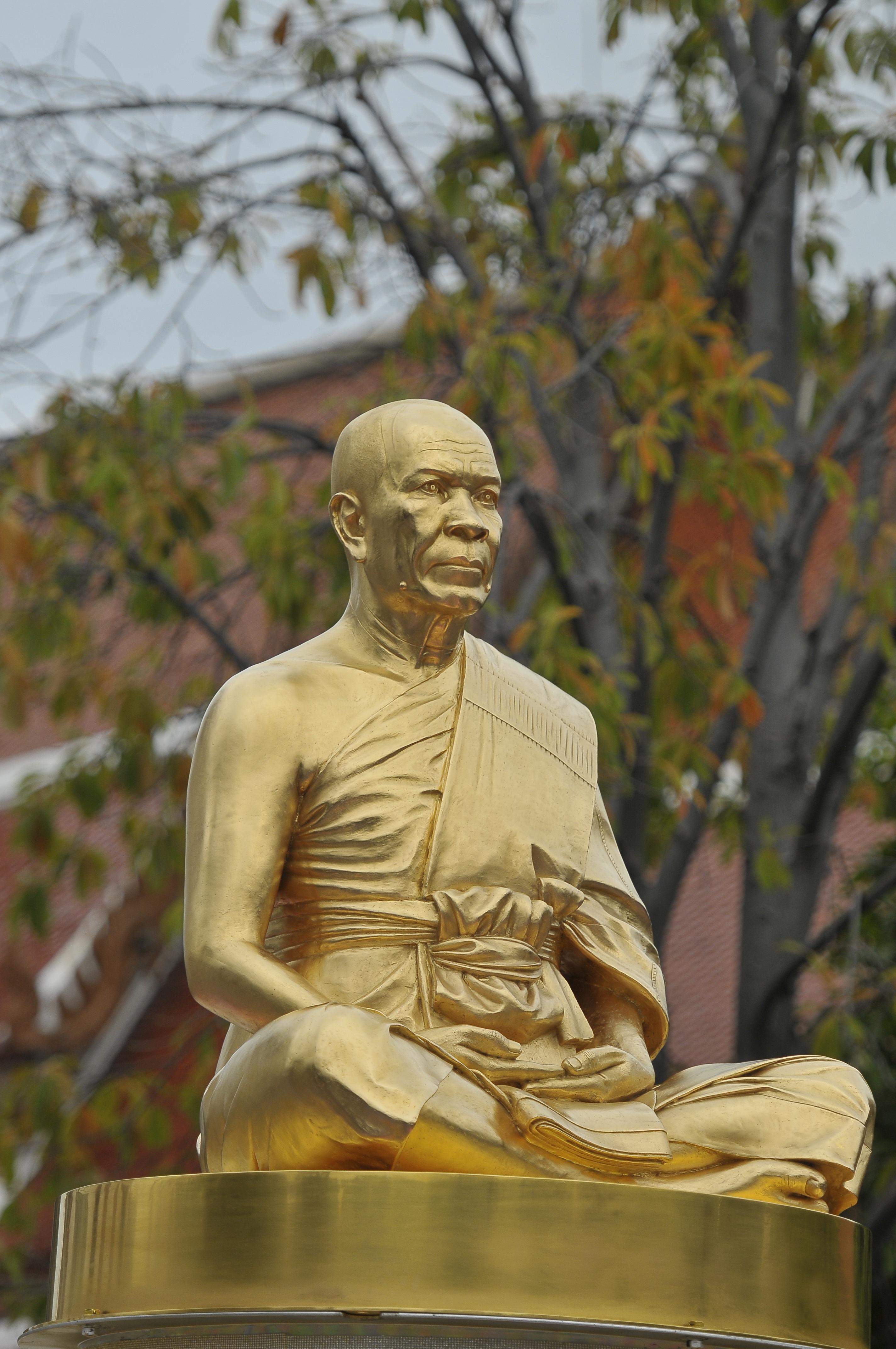 Gambar : Monumen, Asia, duduk, biarawan, merenungkan, agama