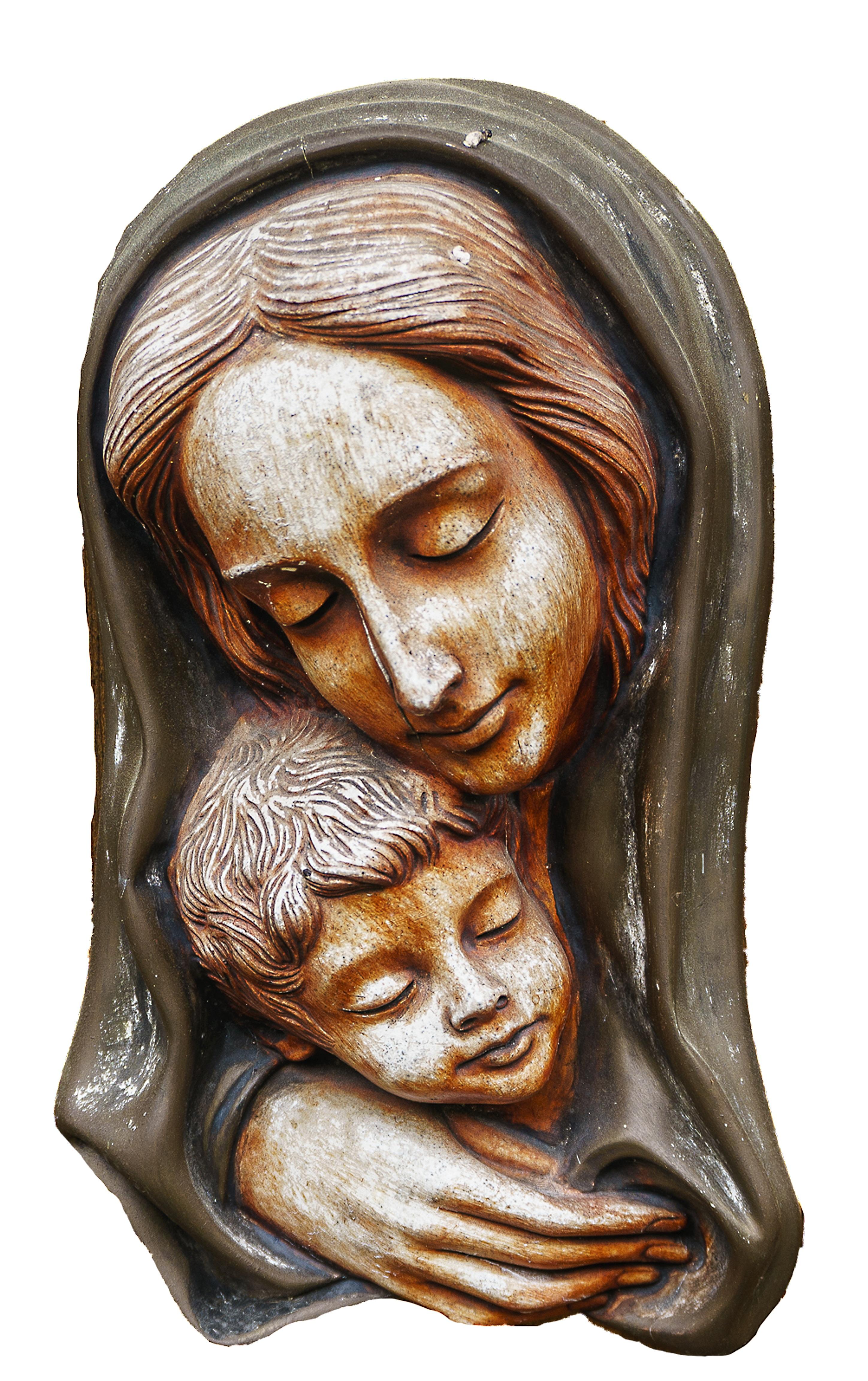무료 이미지 기념물 동상 어린이 미술 그림 머리 성모 마리아 어머니와 자식 거룩한