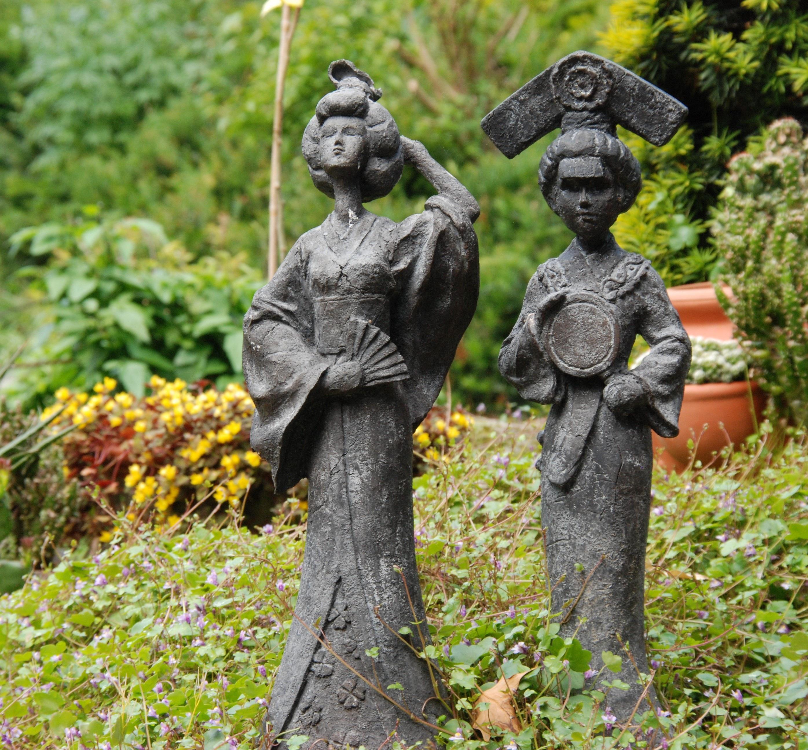 Monument Statue Jardin Japon Sculpture Mémorial Art Image Geisha Oriental