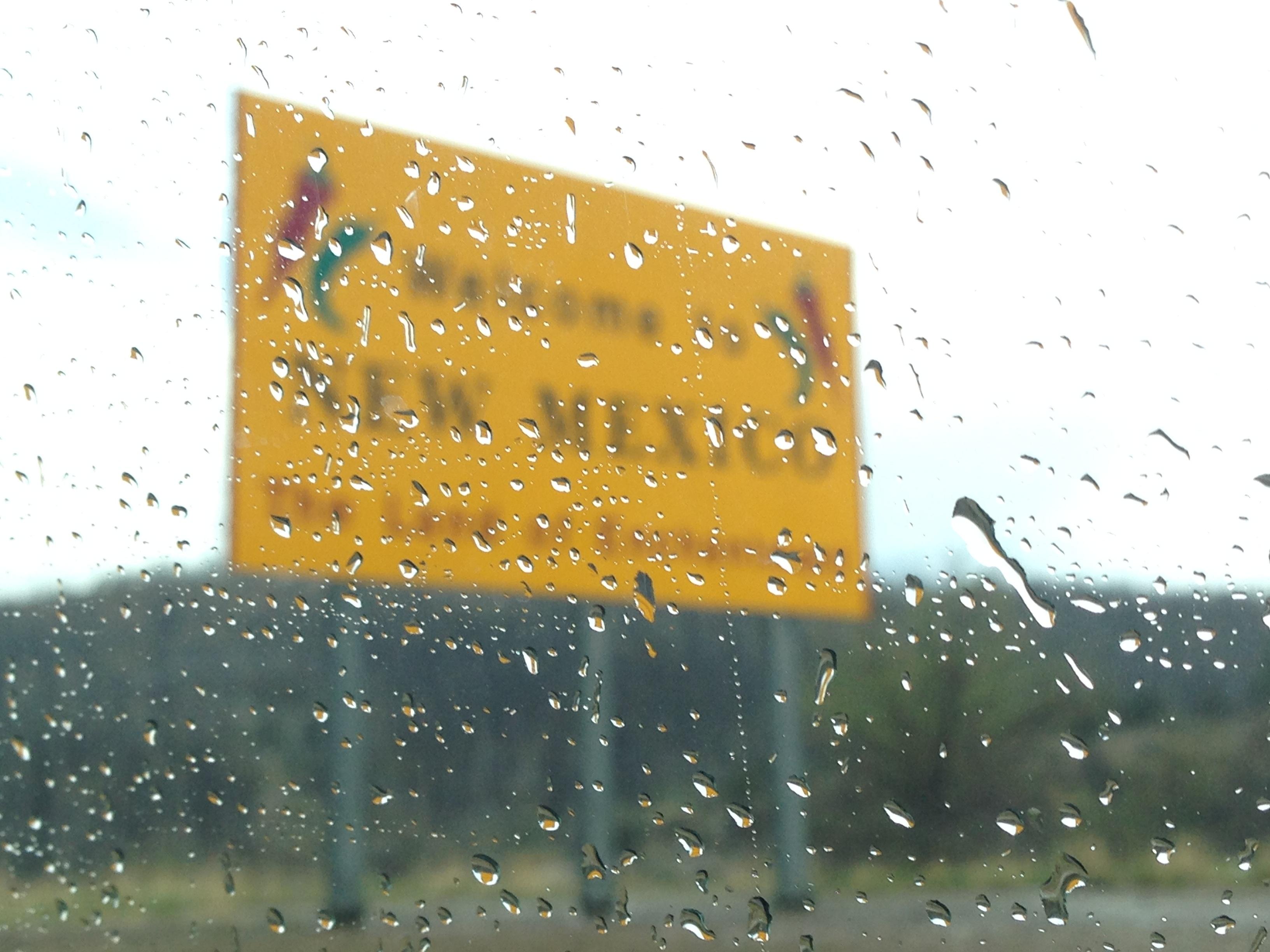 утро дождь шоссе знак Погода США Америка Ориентир Рыжих Туризм Нью-Мексико шрифт текст Добро