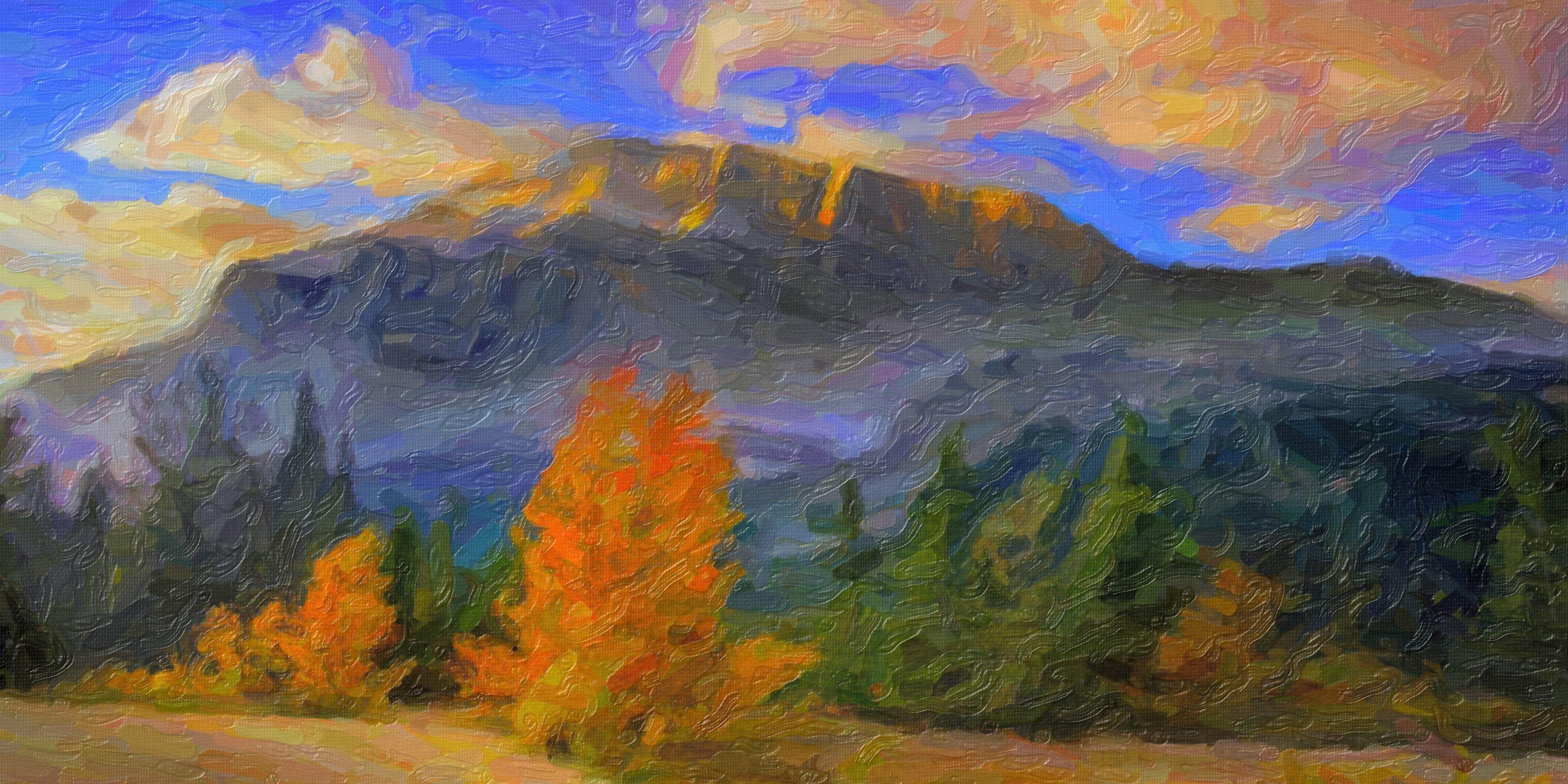Images gratuites montagne l 39 automne terrain la peinture le paysage peinture l 39 huile - Paysage peinture facile ...