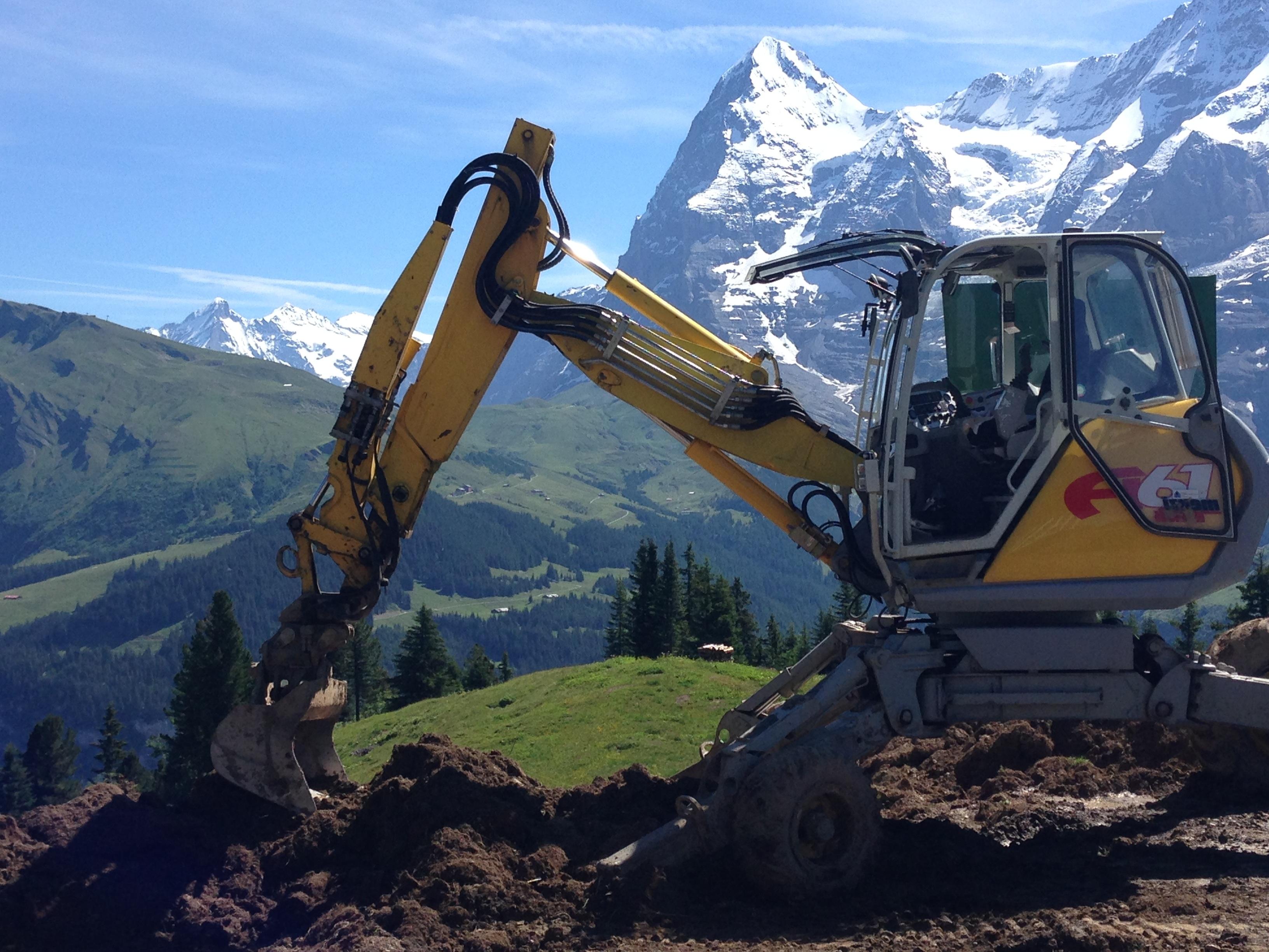 Kostenlose Foto Berg Bau Fahrzeug Ausrustung Boden Maschine