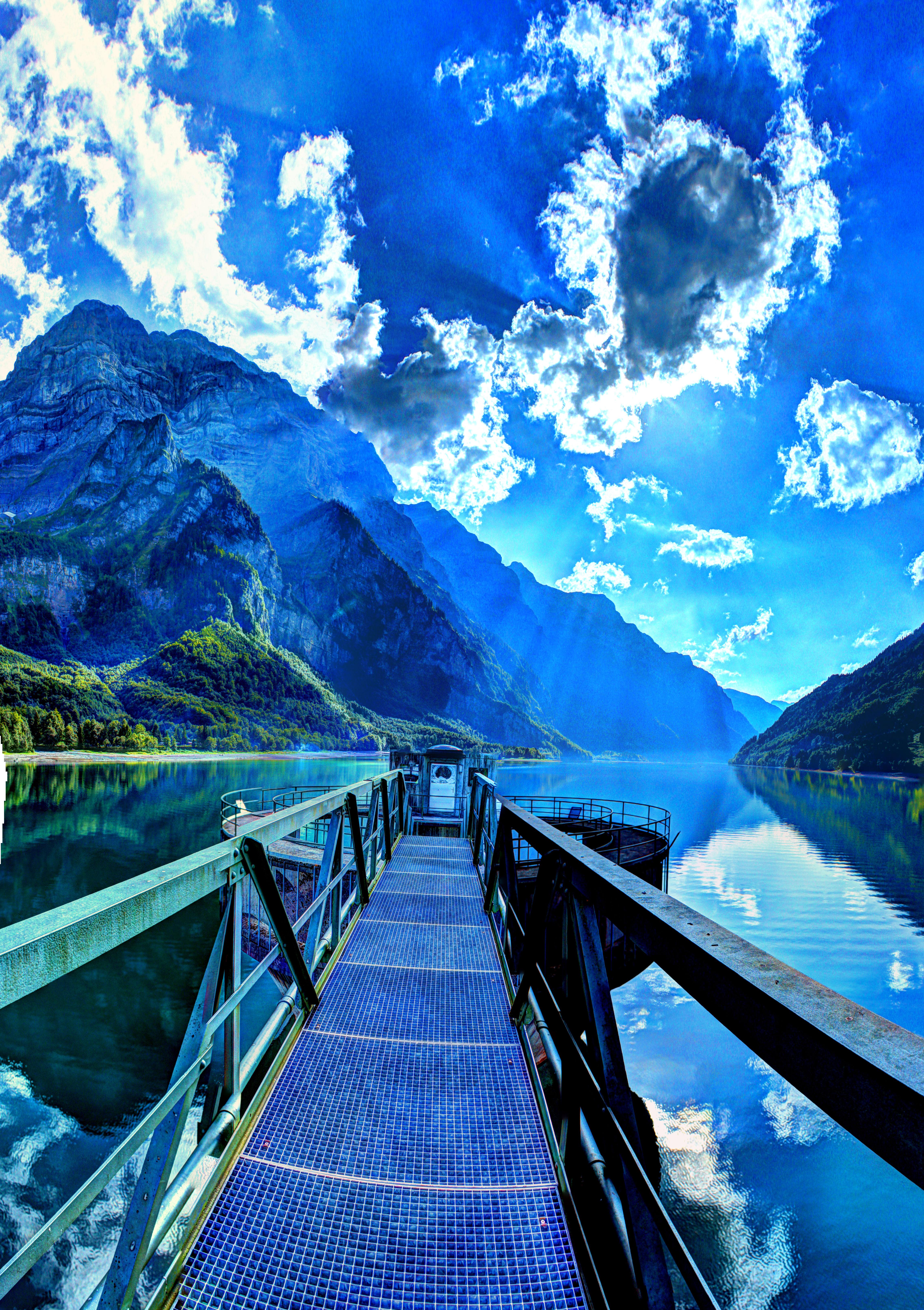 無料画像 空 太陽光 山脈 反射 フィヨルド クールな画像