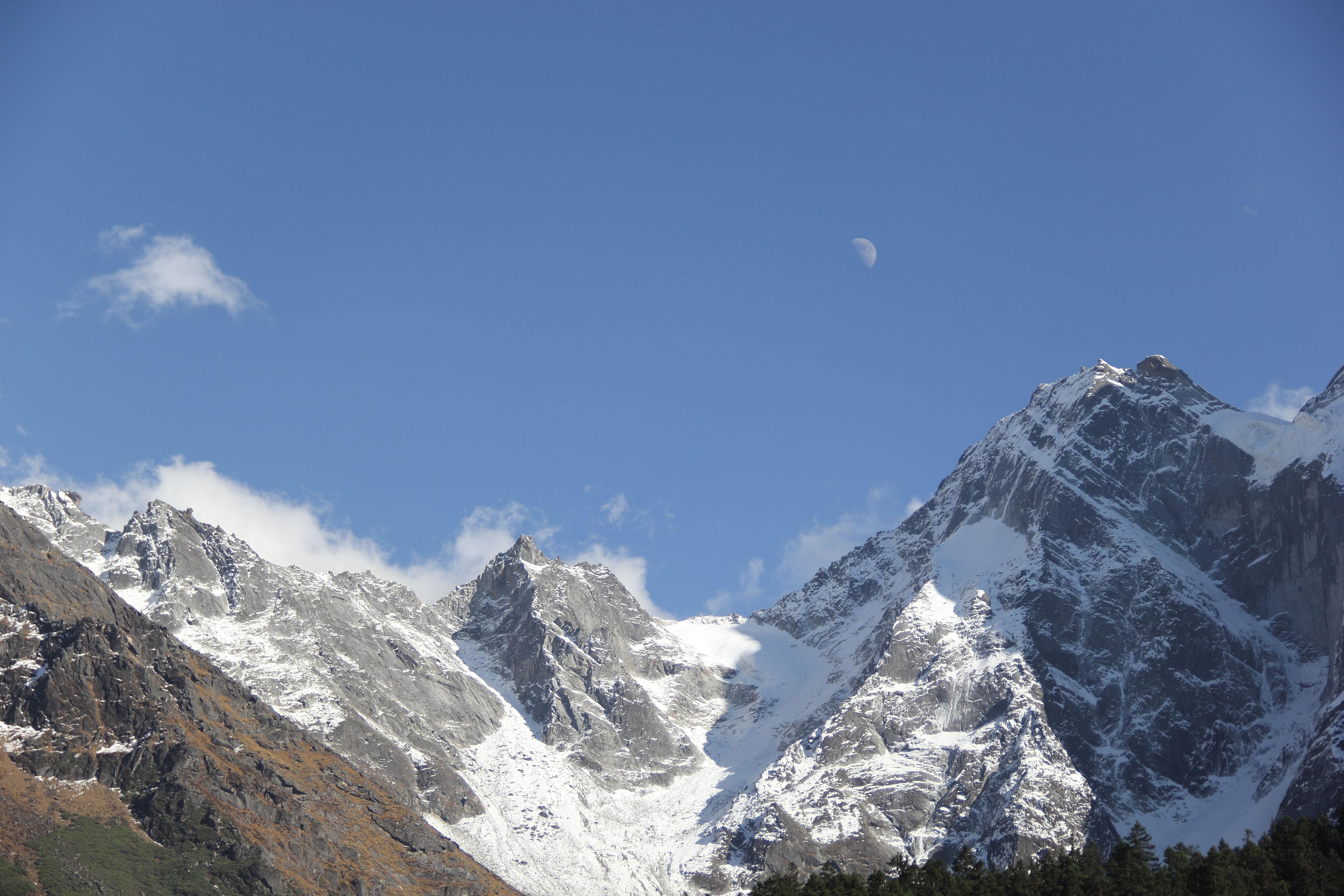 Gambar : salju, petualangan, Pegunungan, bulan, punggung ...