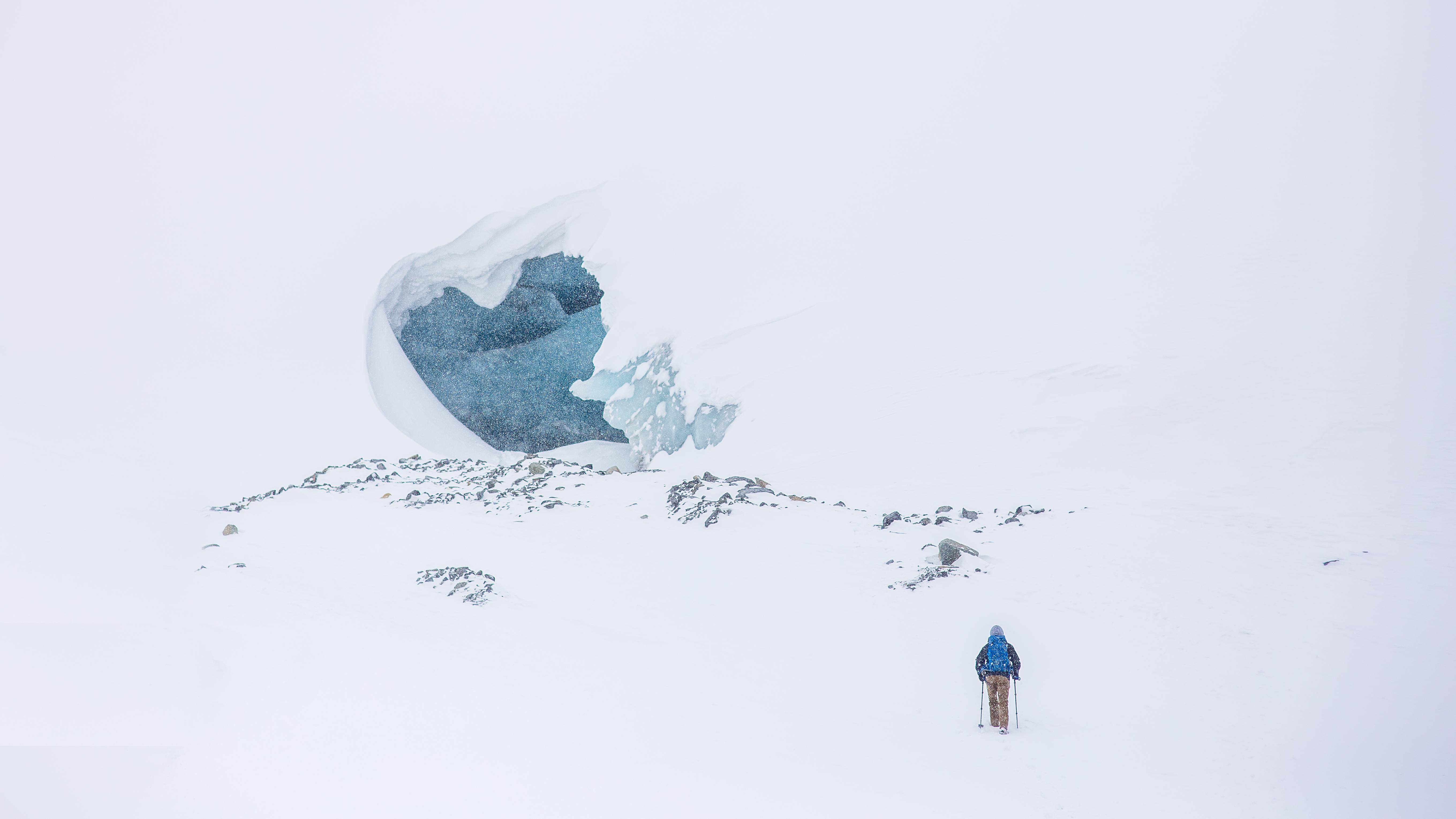 Gambar Salju Musim Dingin Petualangan Es Cuaca Biru