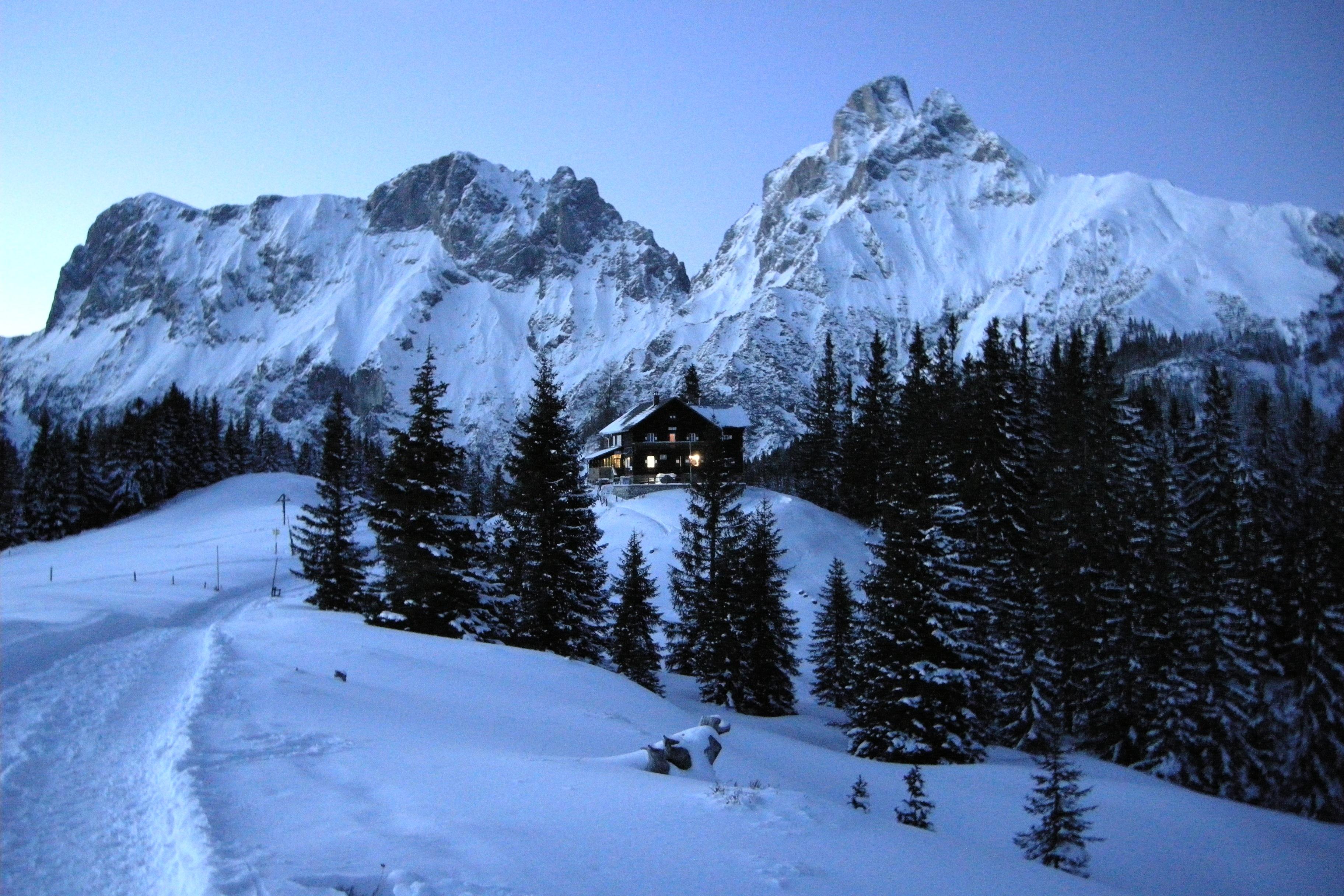 художественные фотографии заснеженных альп поднял руки