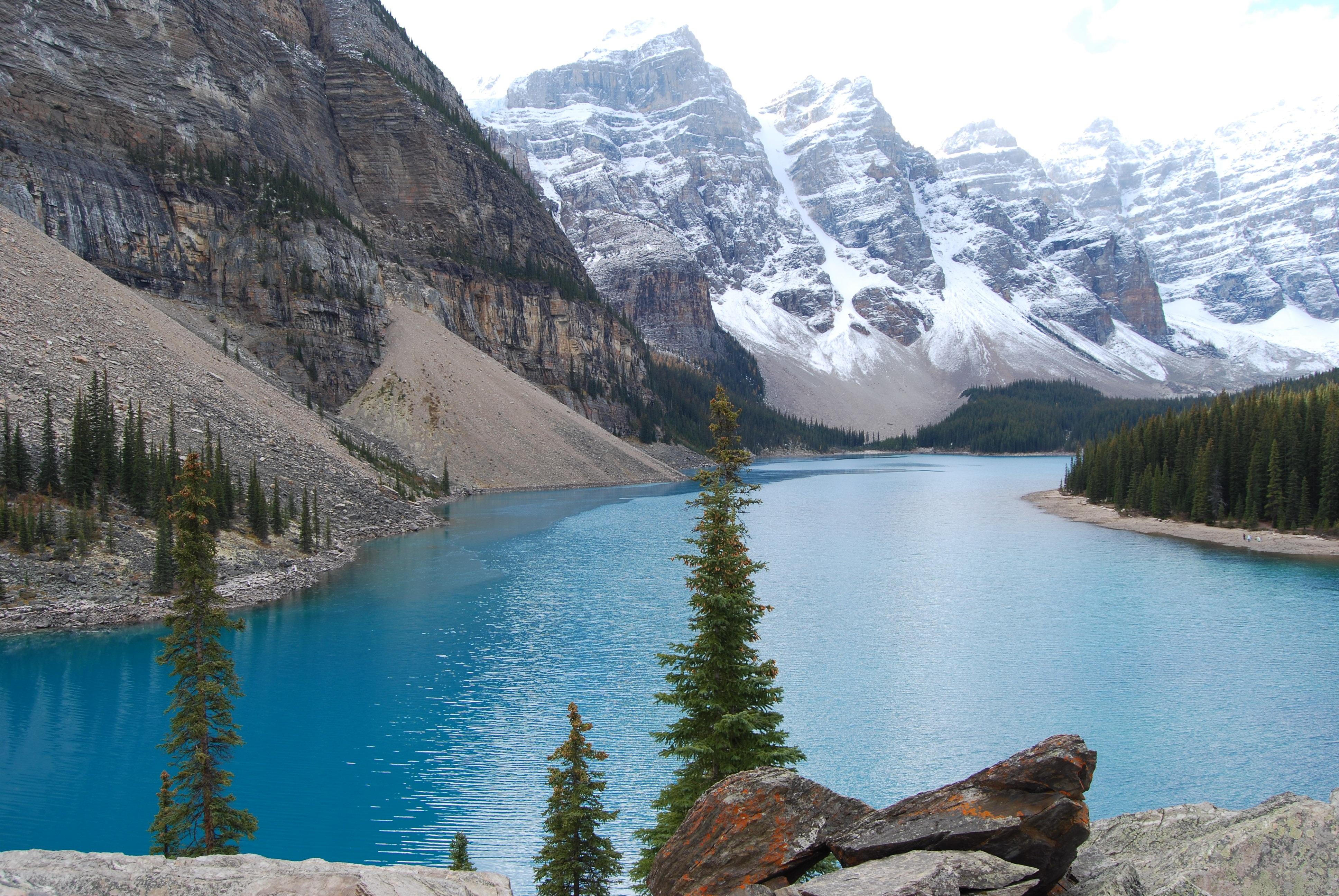 Fotos gratis monta a nieve lago valle cordillera for Arboles de hoja perenne para clima frio