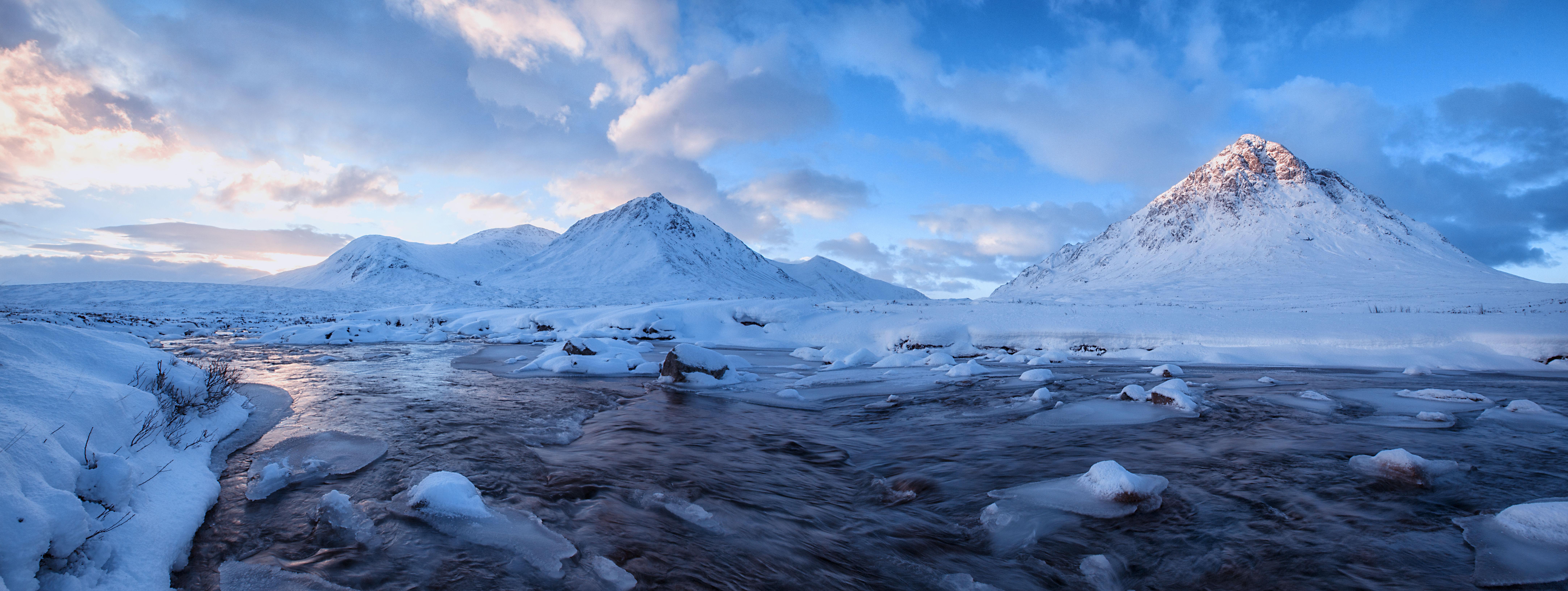 Free Images : snow, winter, dawn, mountain range, ice ...