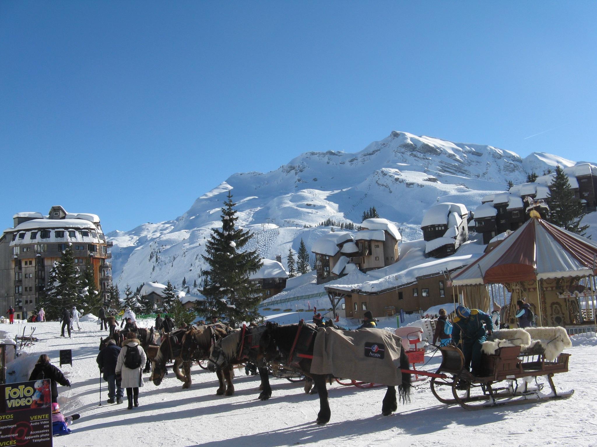 free images : snow, peak, mountain range, vacation, france, vehicle