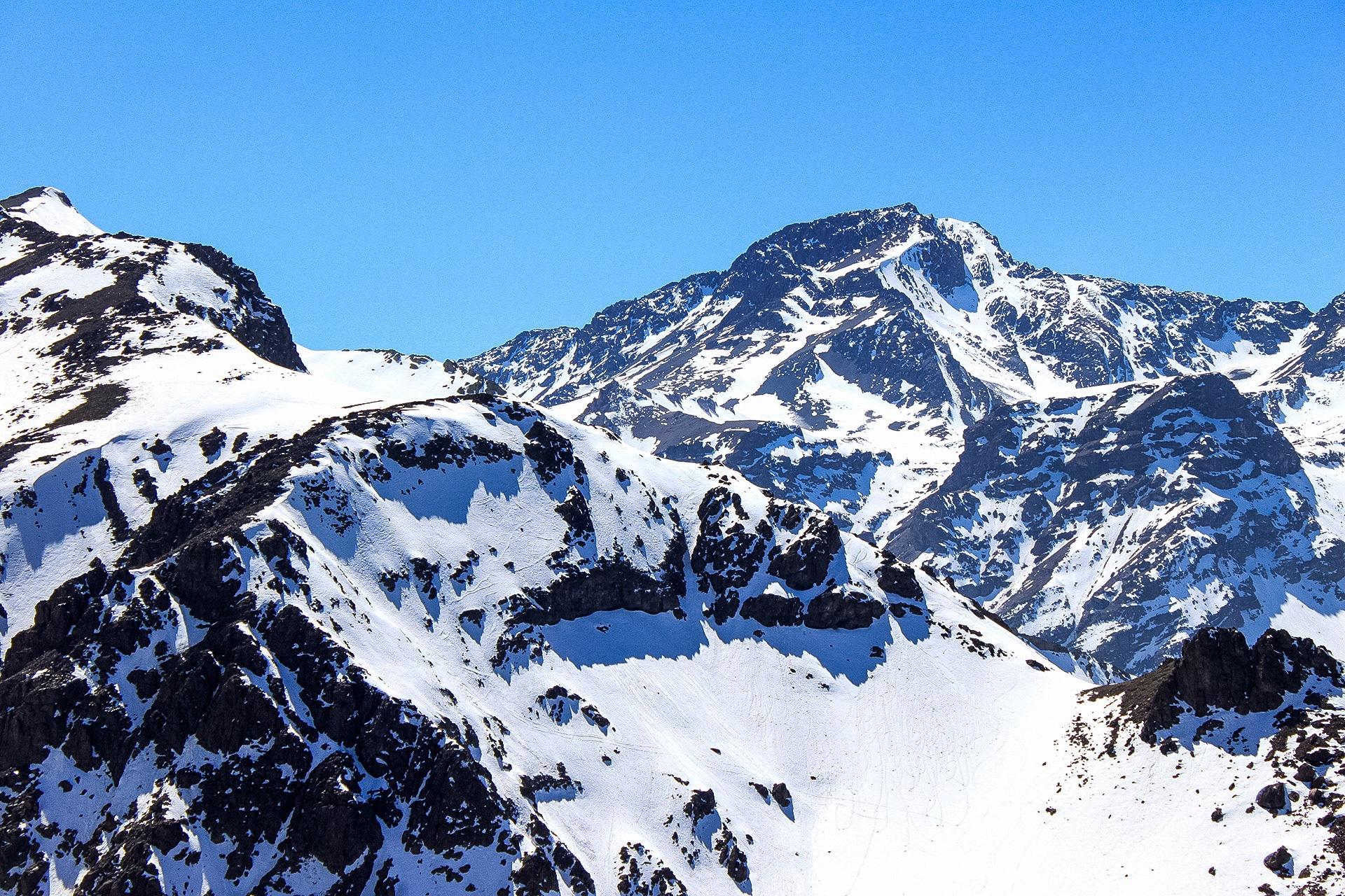 free images : snow, winter, peak, mountain range, weather, snowy