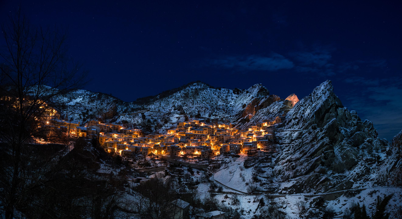 Images gratuites montagne neige hiver ciel nuit - Photos de neige gratuites ...