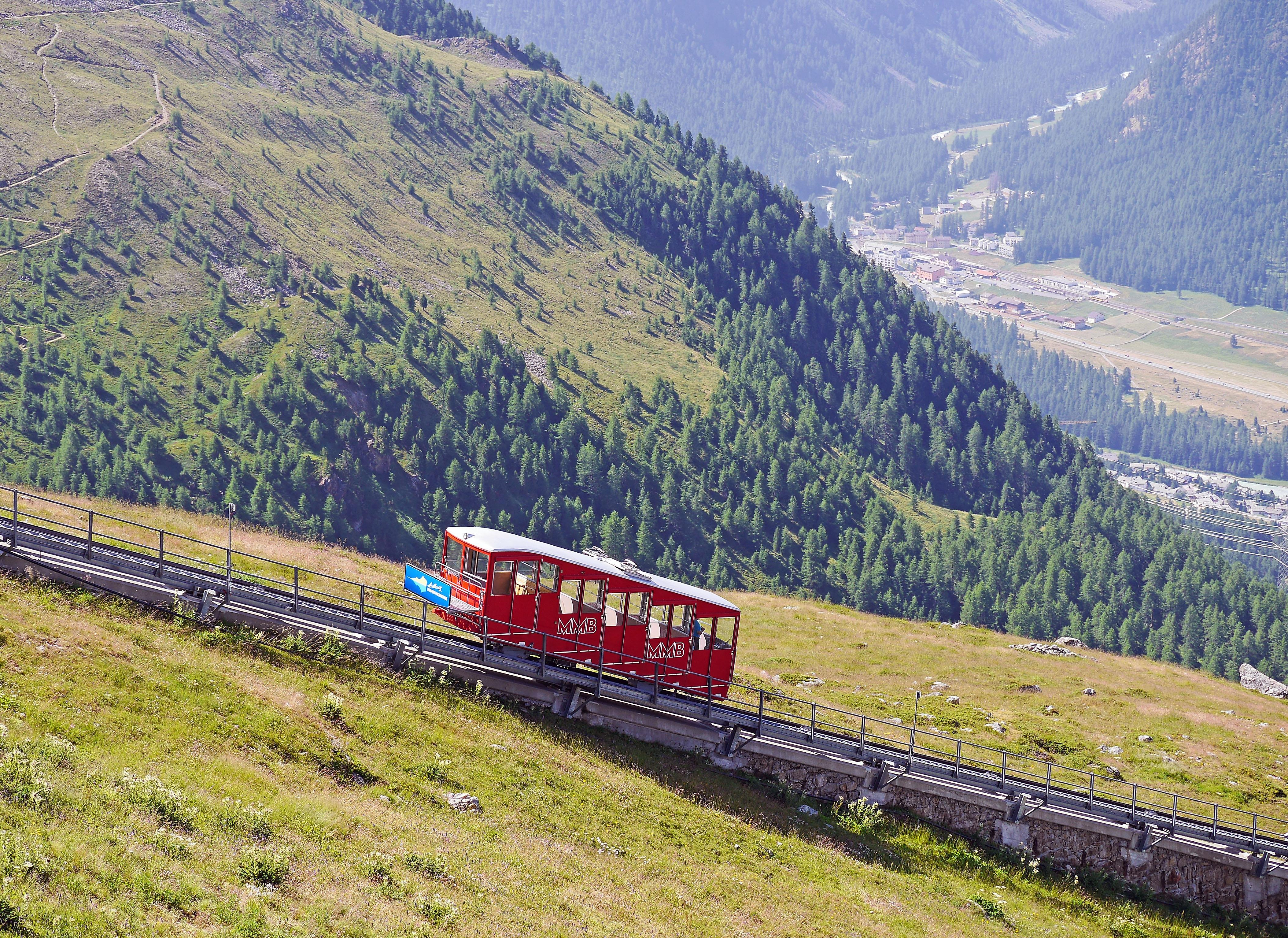 Free Images : track, train, mountain range, summer, vehicle