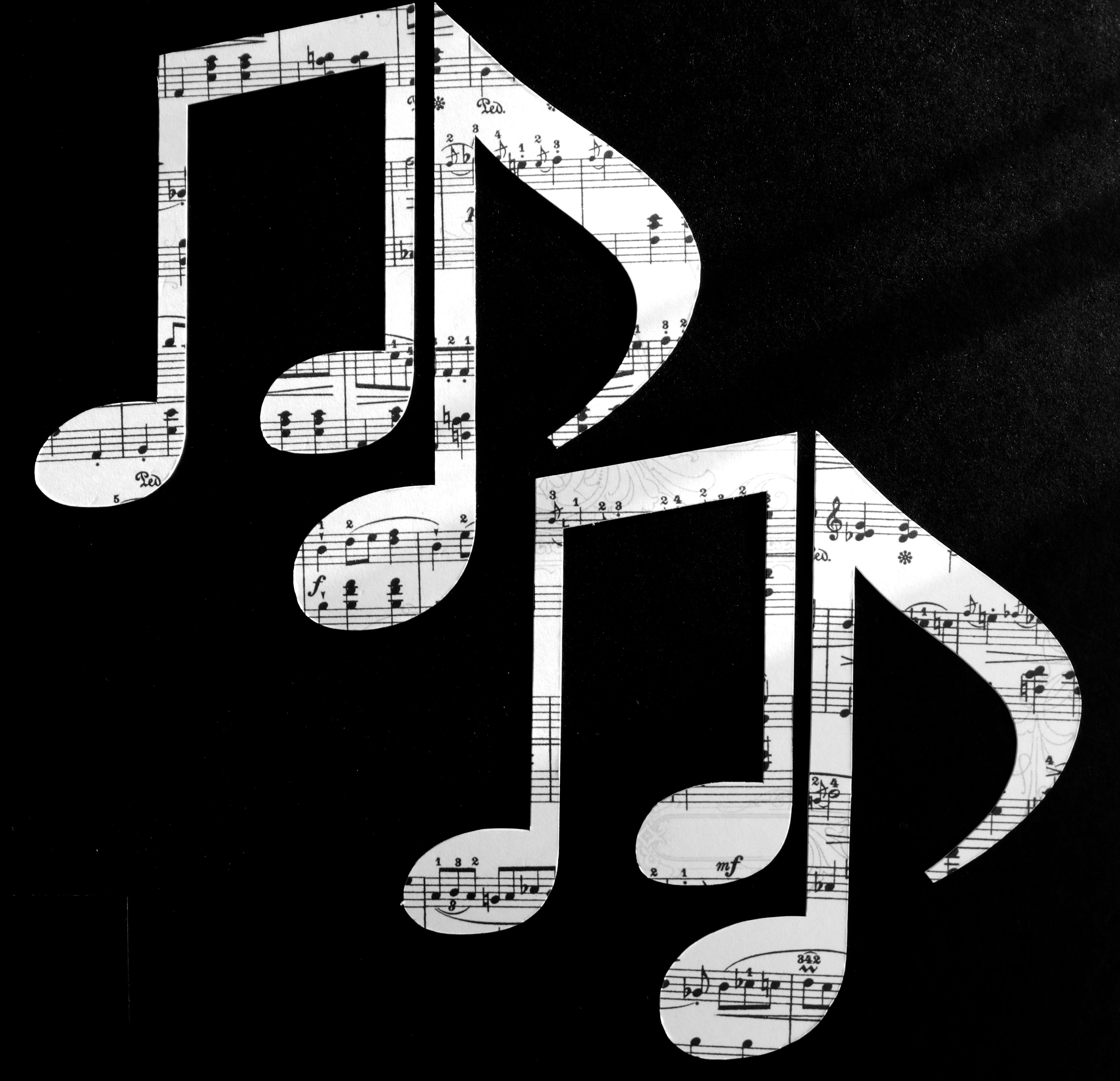 Fotoğraf Siyah Ve Beyaz Numara Müzik Aleti Nota Yazı Tipi