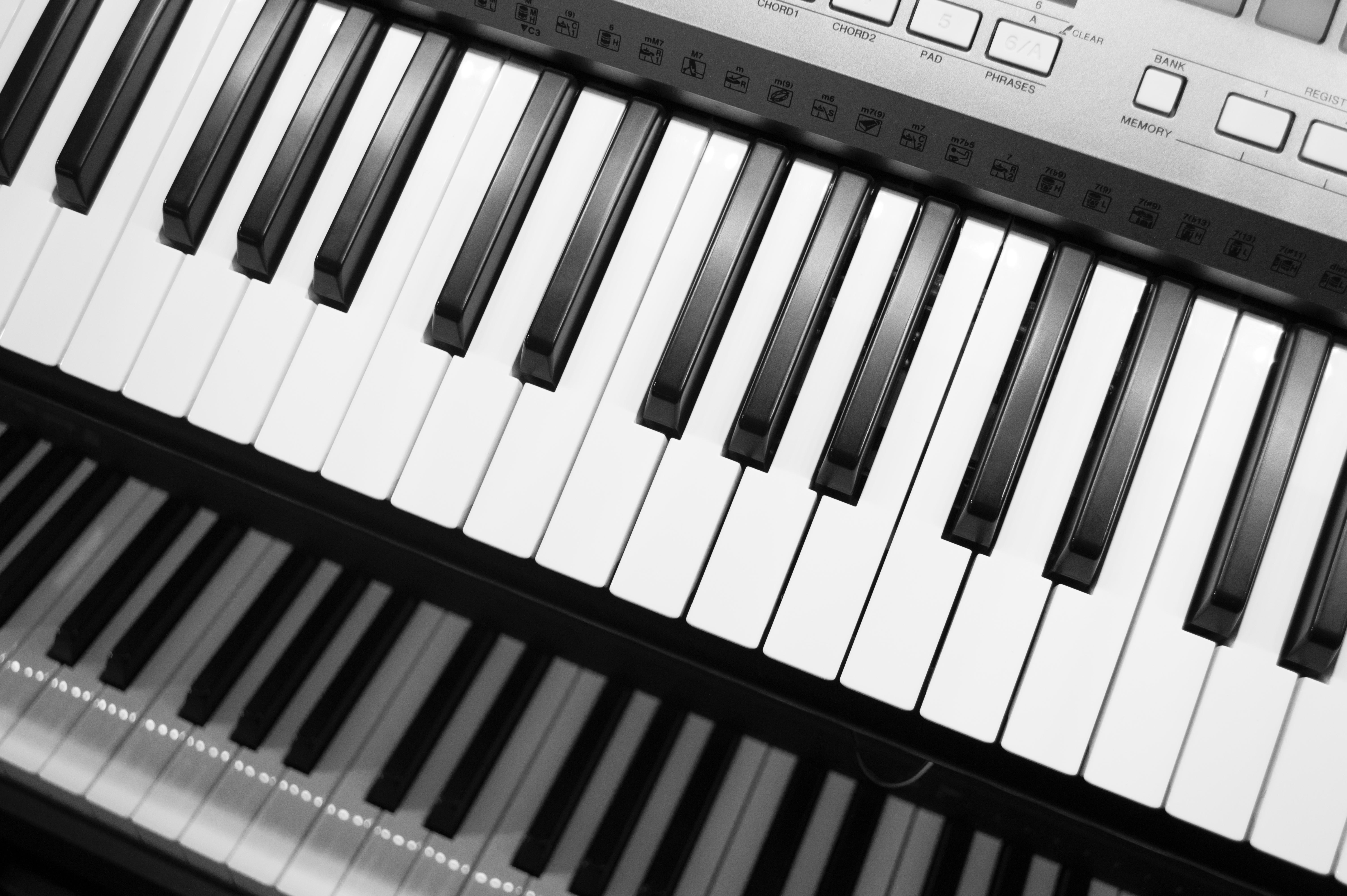 Gambar Hitam Dan Putih Keyboard Teknologi Satu Warna Alat Musik Kunci Kunci Catatan Fotografi Monokrom Instrumen String Piano Digital Peralatan Elektronik Keyboard Musik Alat Elektronik Piano Listrik Keyboard Elektronik Synthesizer