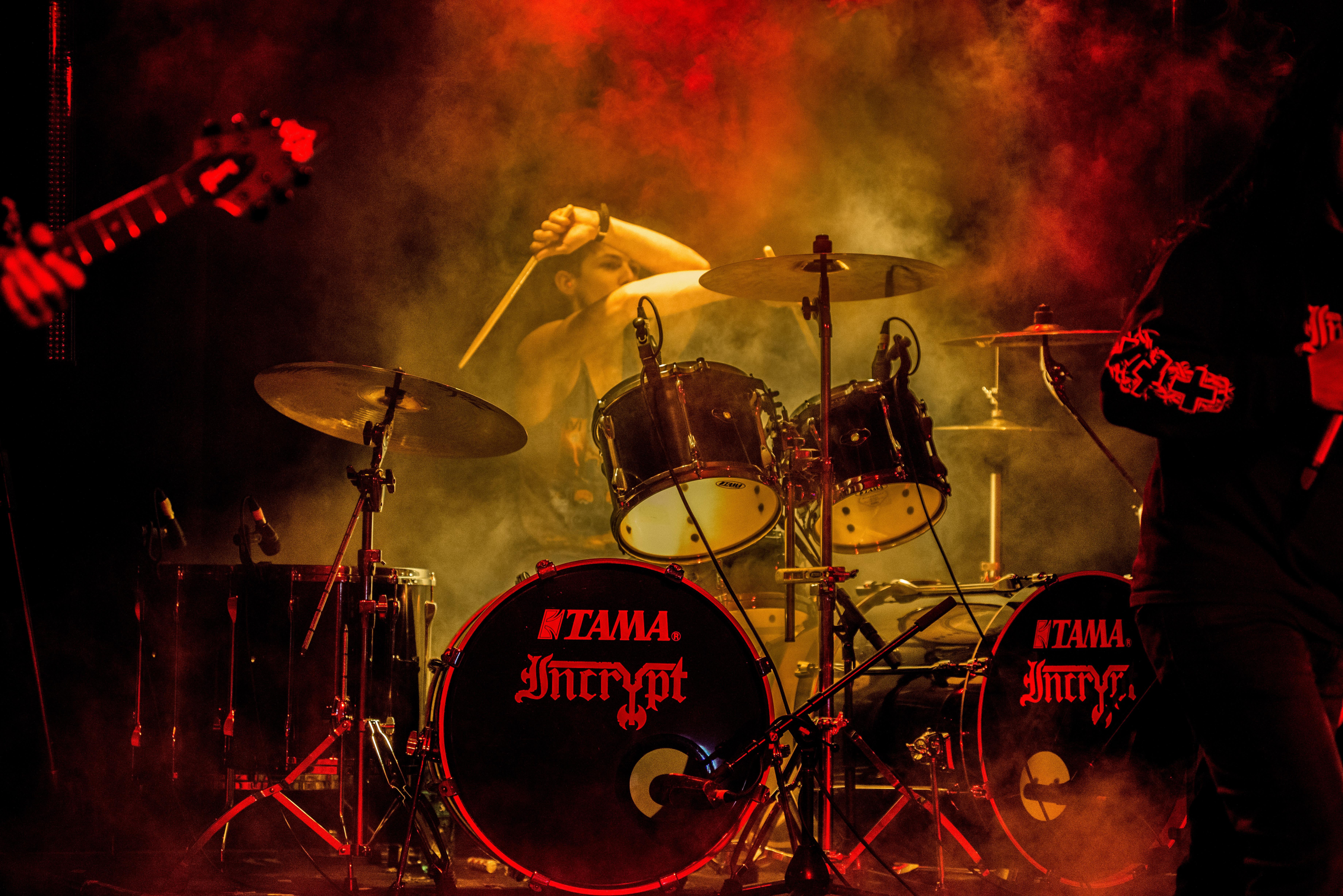 free images music band musician set drum stage performance kit guitarist drums. Black Bedroom Furniture Sets. Home Design Ideas