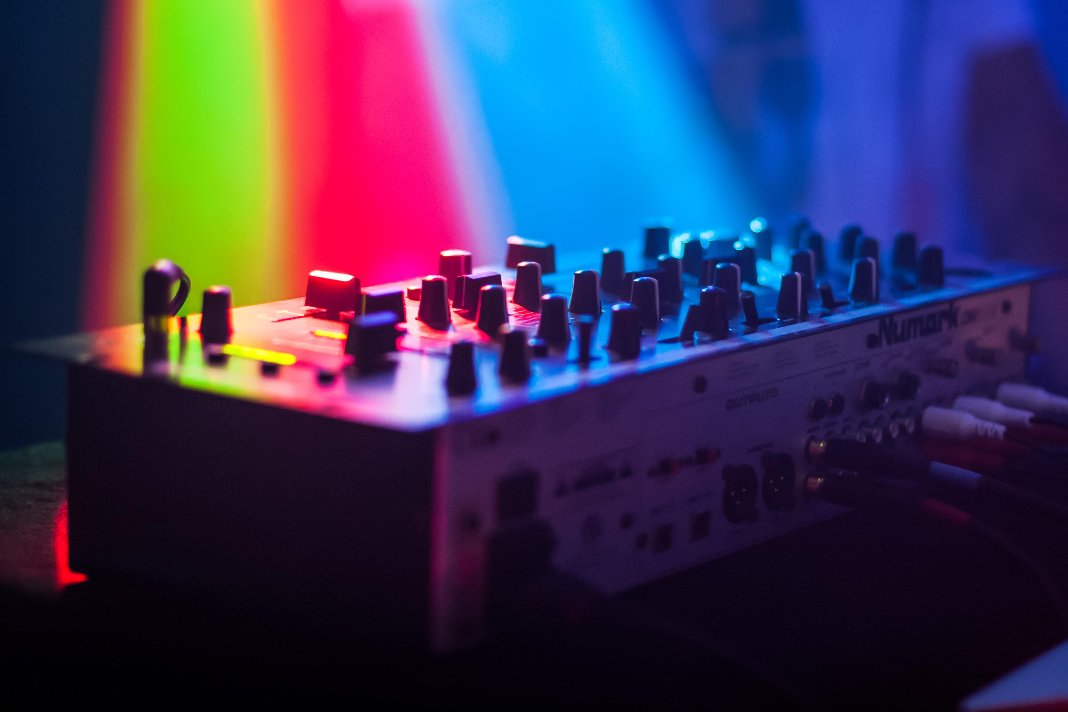 free images music light atmosphere dark dance green red equipment color blue dj. Black Bedroom Furniture Sets. Home Design Ideas
