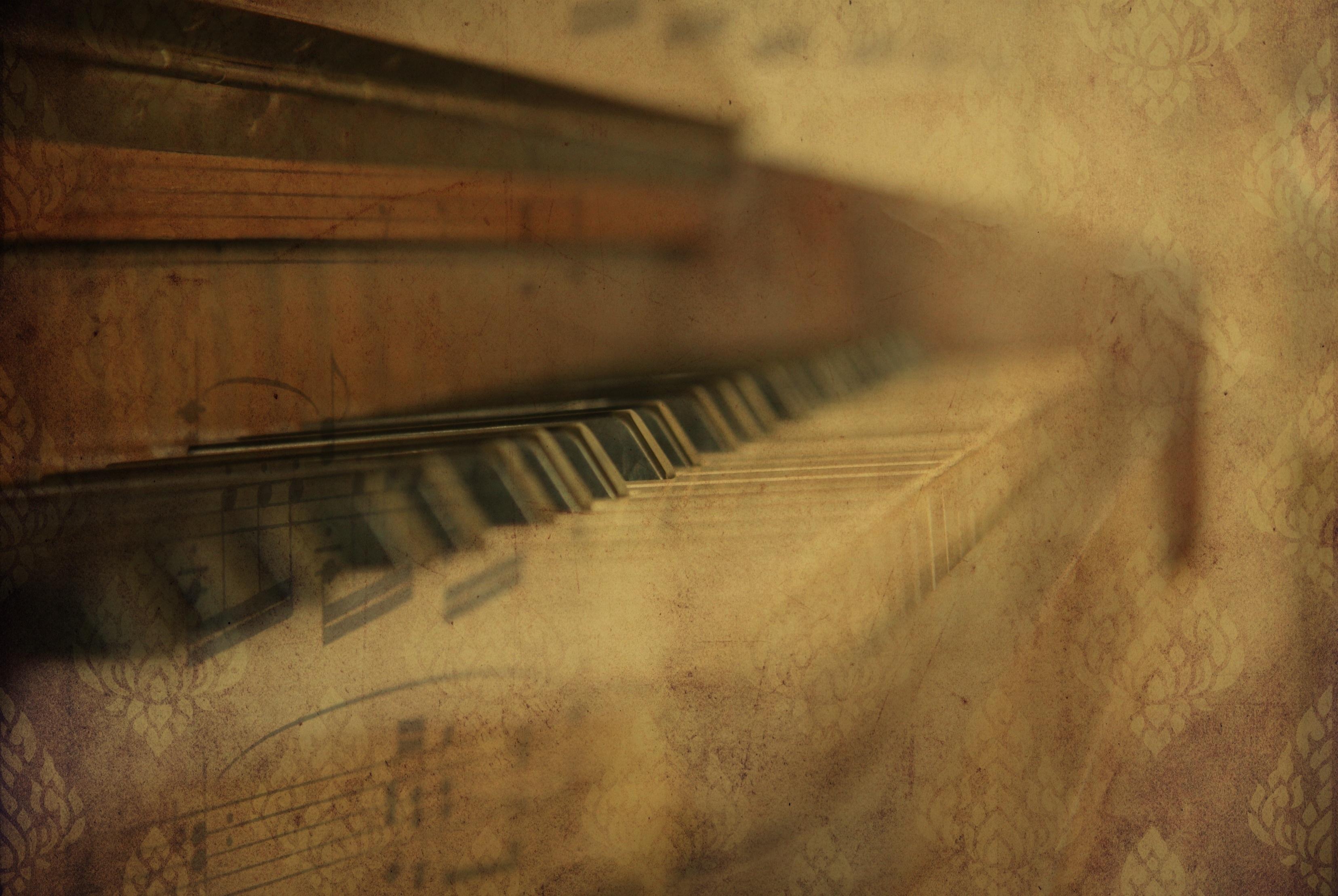 Gambar Cahaya Struktur Kayu Keyboard Antik Sinar Matahari