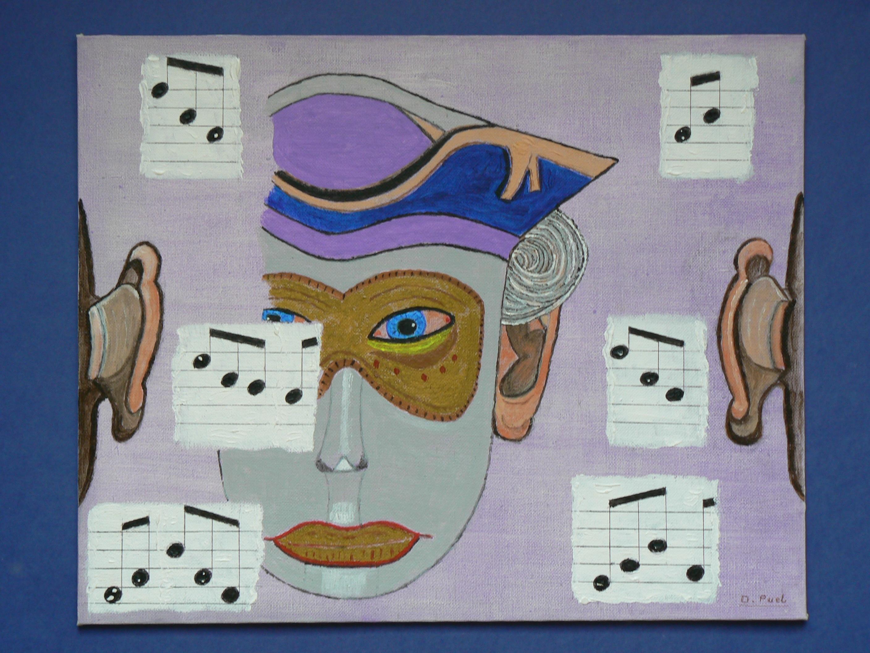 Gambar Musik Venesia Lukisan Seni Sketsa Ilustrasi