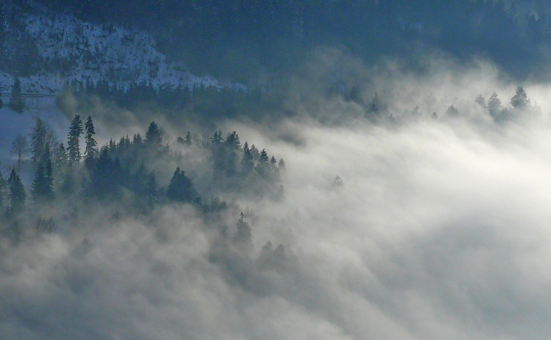 Картинки облака на в тумане