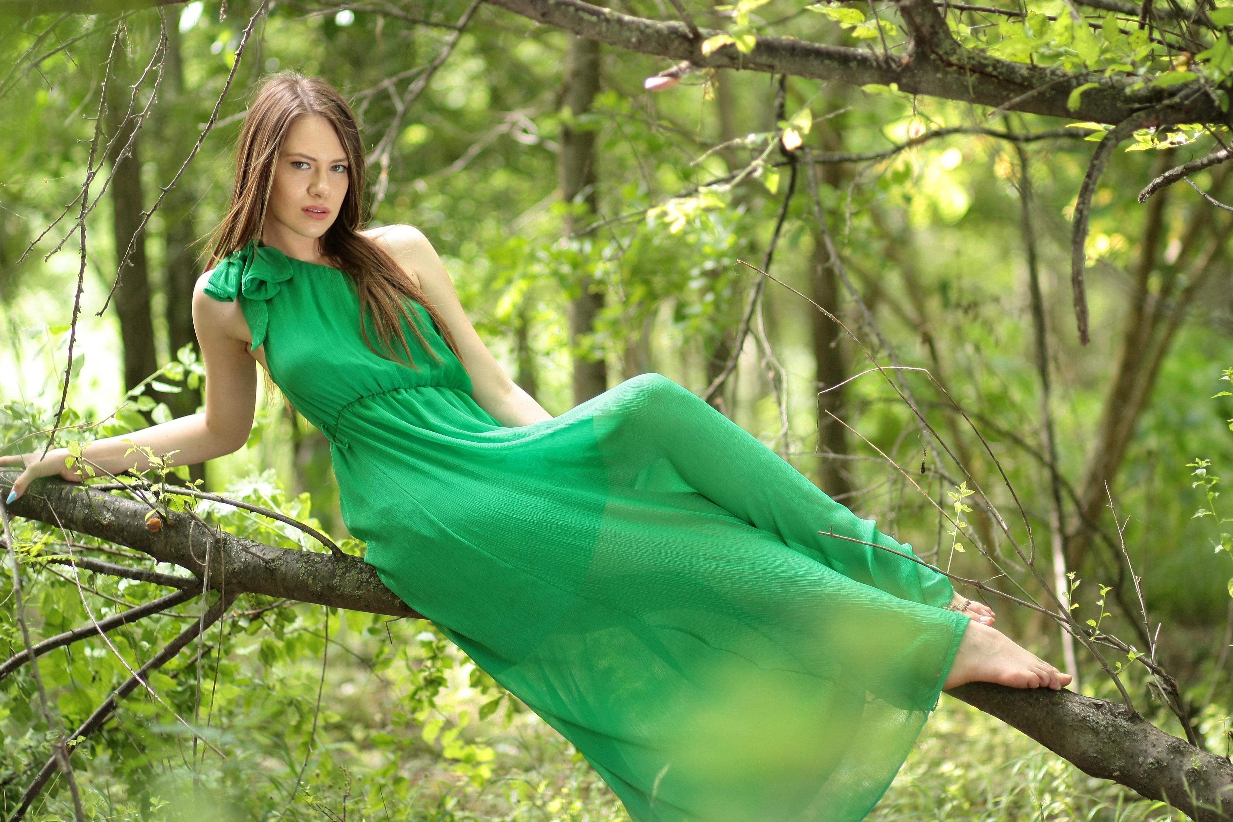 Красивые зеленые телки