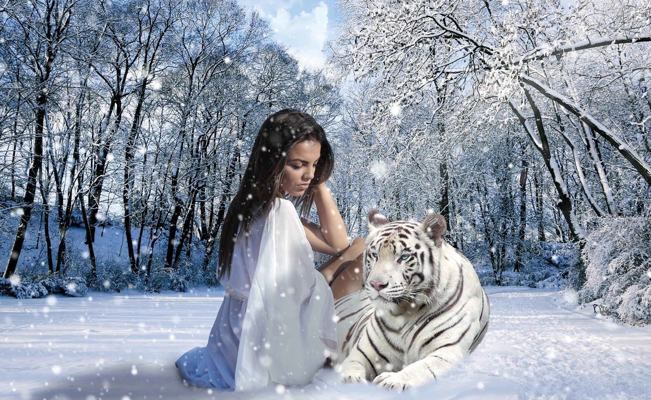 foto de Images Gratuites : la nature, forêt, neige, hiver, femme ...