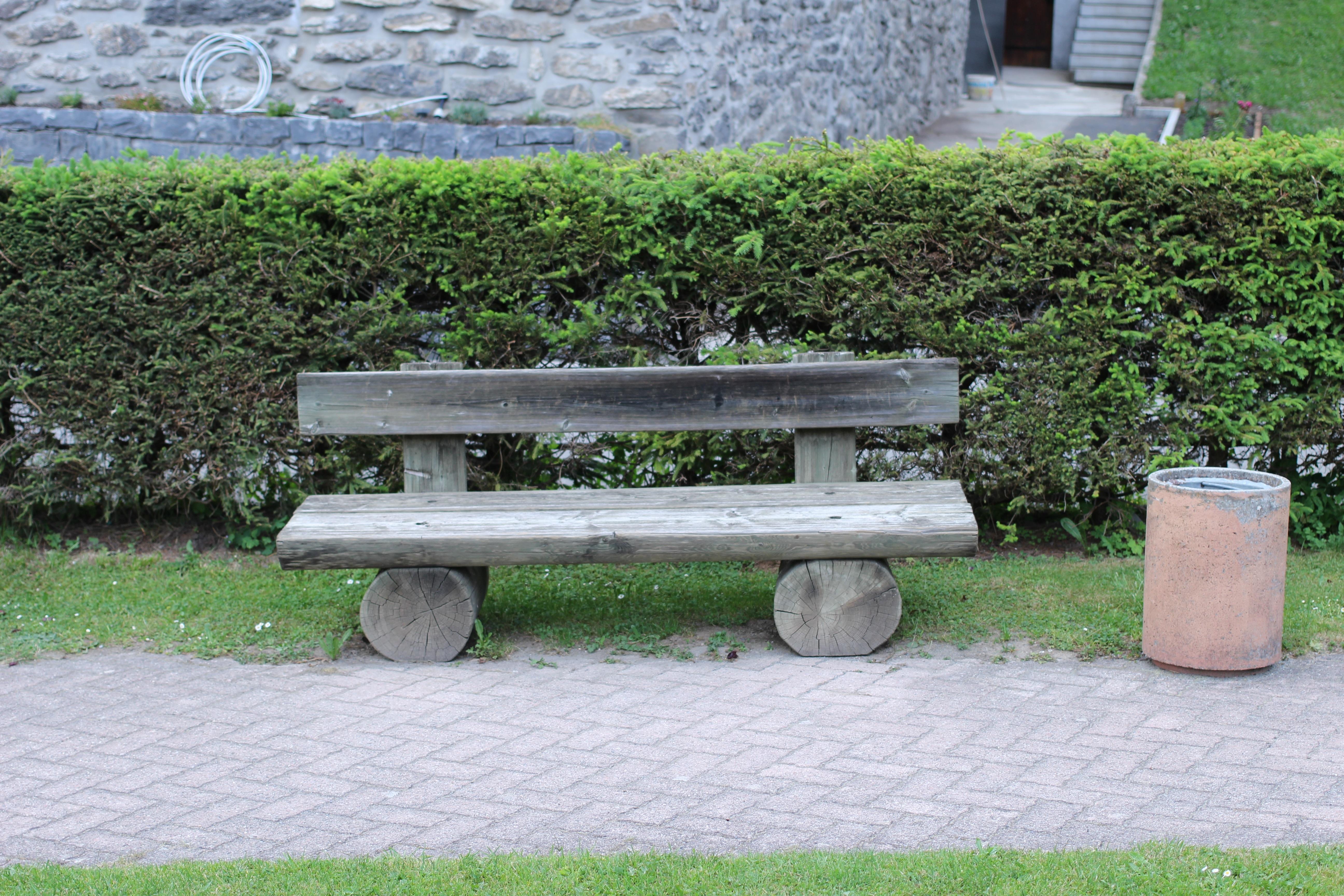 Fotos gratis : naturaleza, césped, banco, parque, patio interior ...