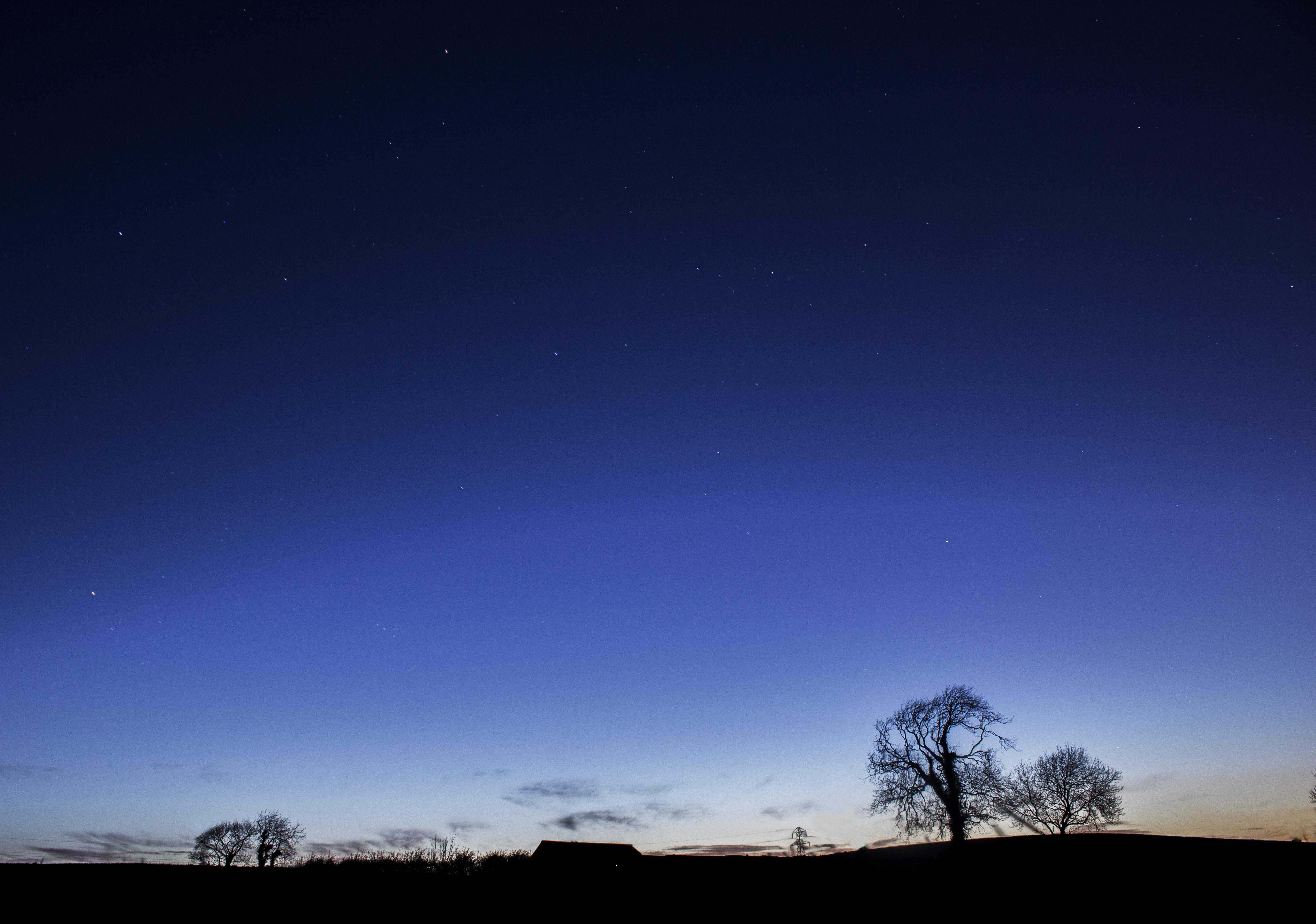 Nature Horizon Light Cloud Sky Night Star Dawn Atmosphere Dark Dusk Evening Darkness Blue