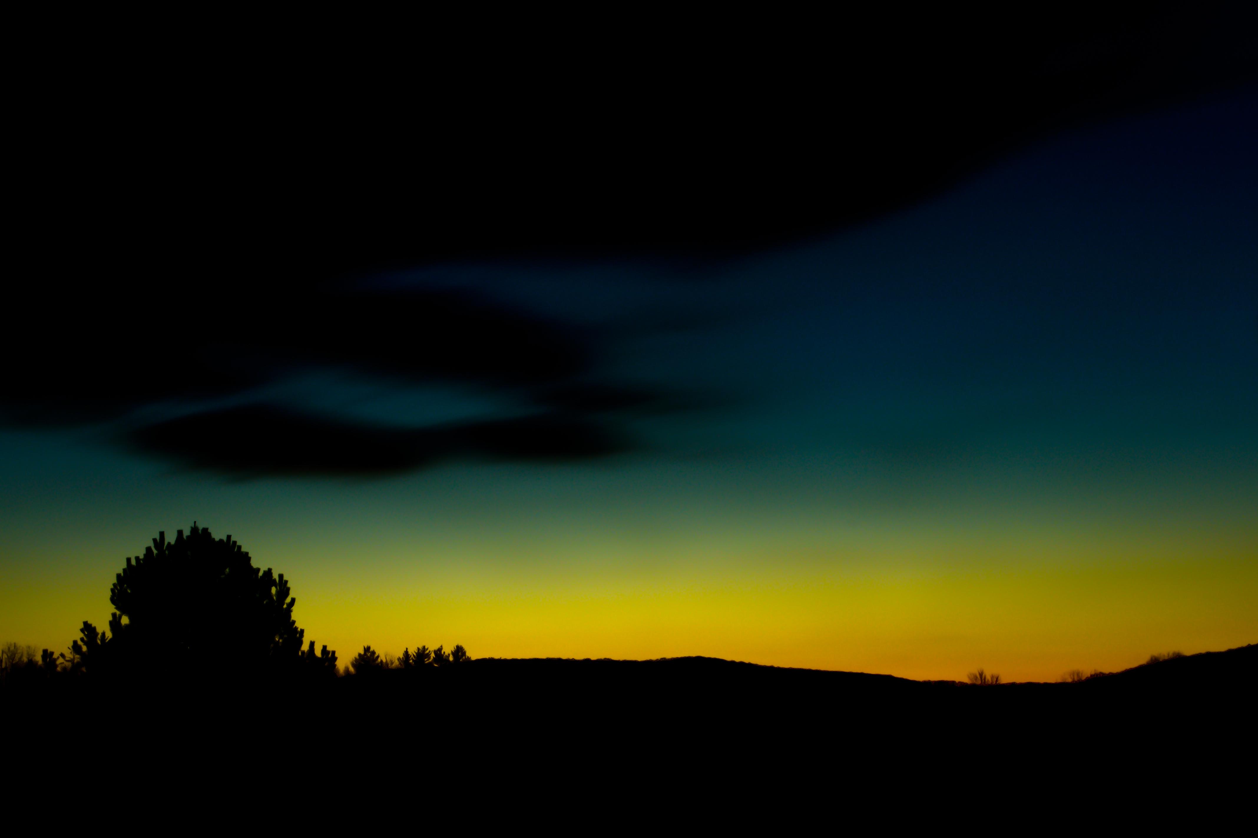Обои высокая трава, сумерки, облака. Природа foto 15
