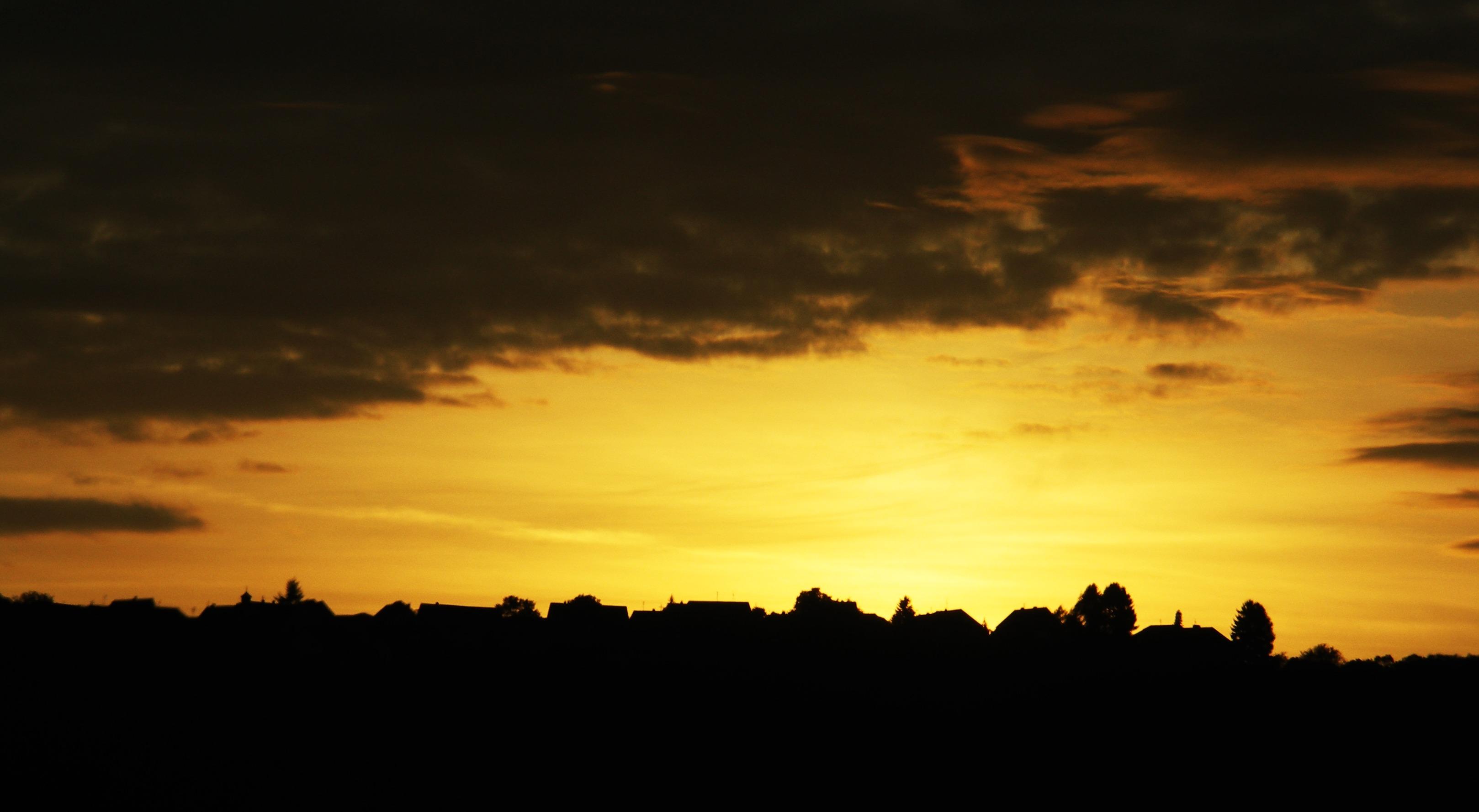 Images Gratuites : la nature, horizon, silhouette, nuage ...