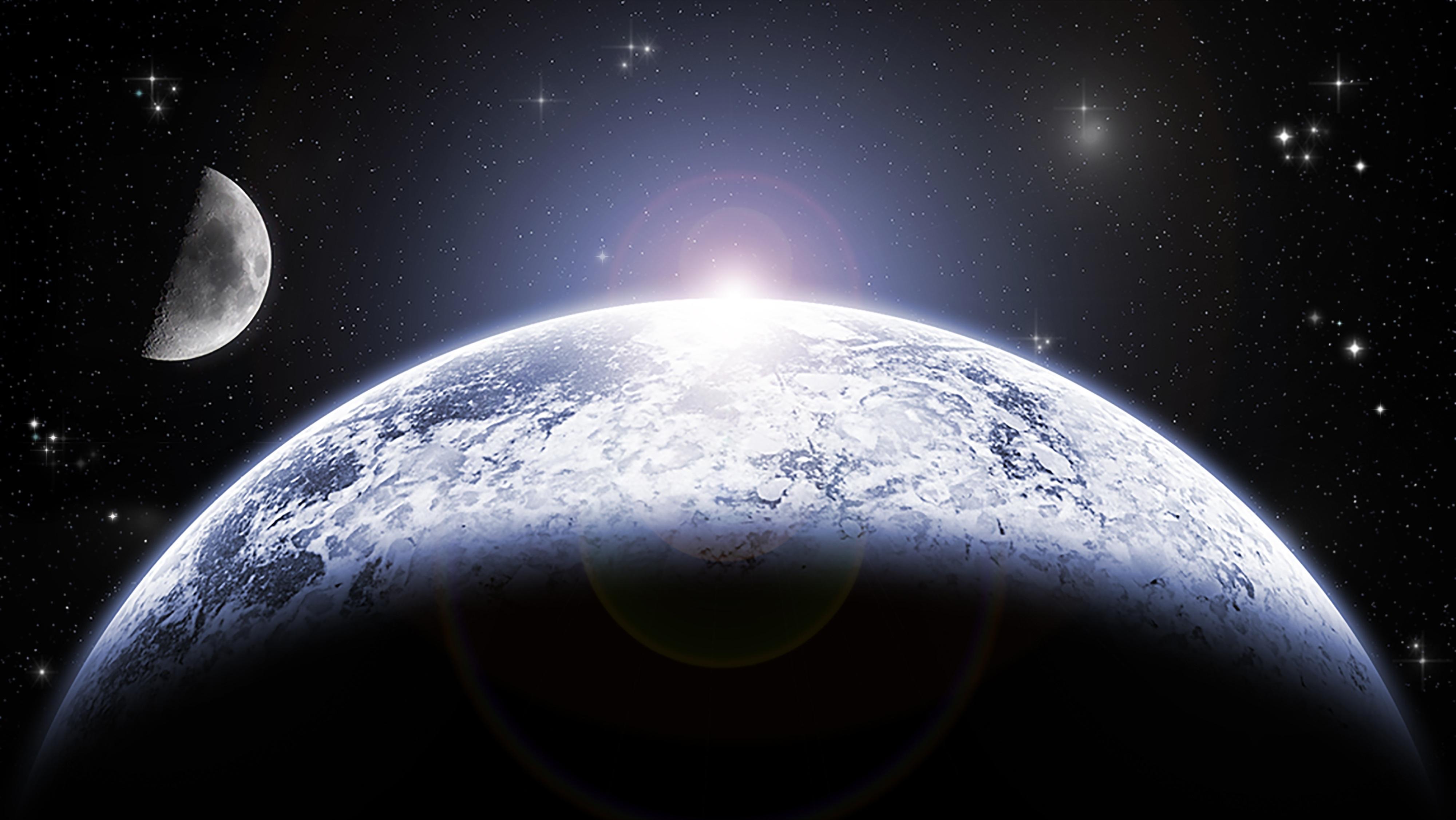 Gambar cahaya langit matahari bintang kosmos suasana gelap