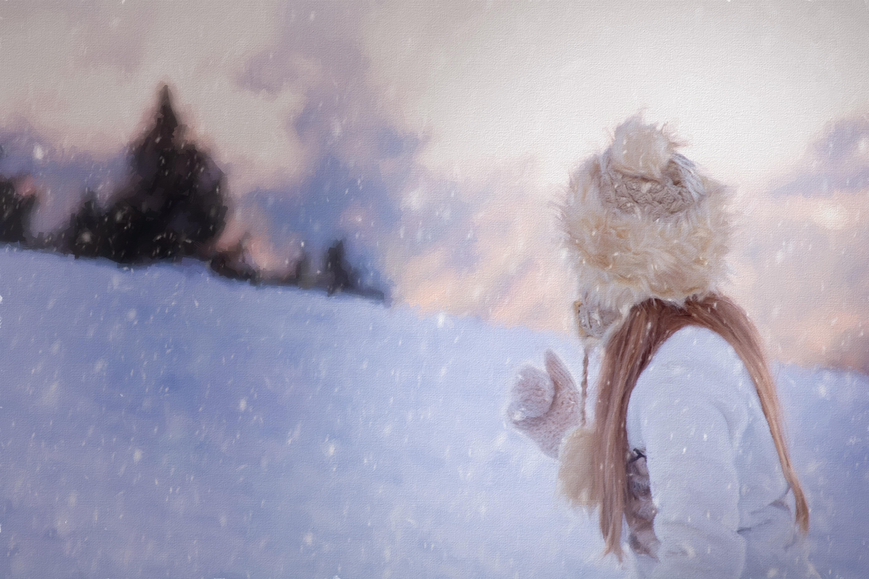 Fotoğraf Doğa Kar Kız Don Buz Alacakaranlık Portre Hava