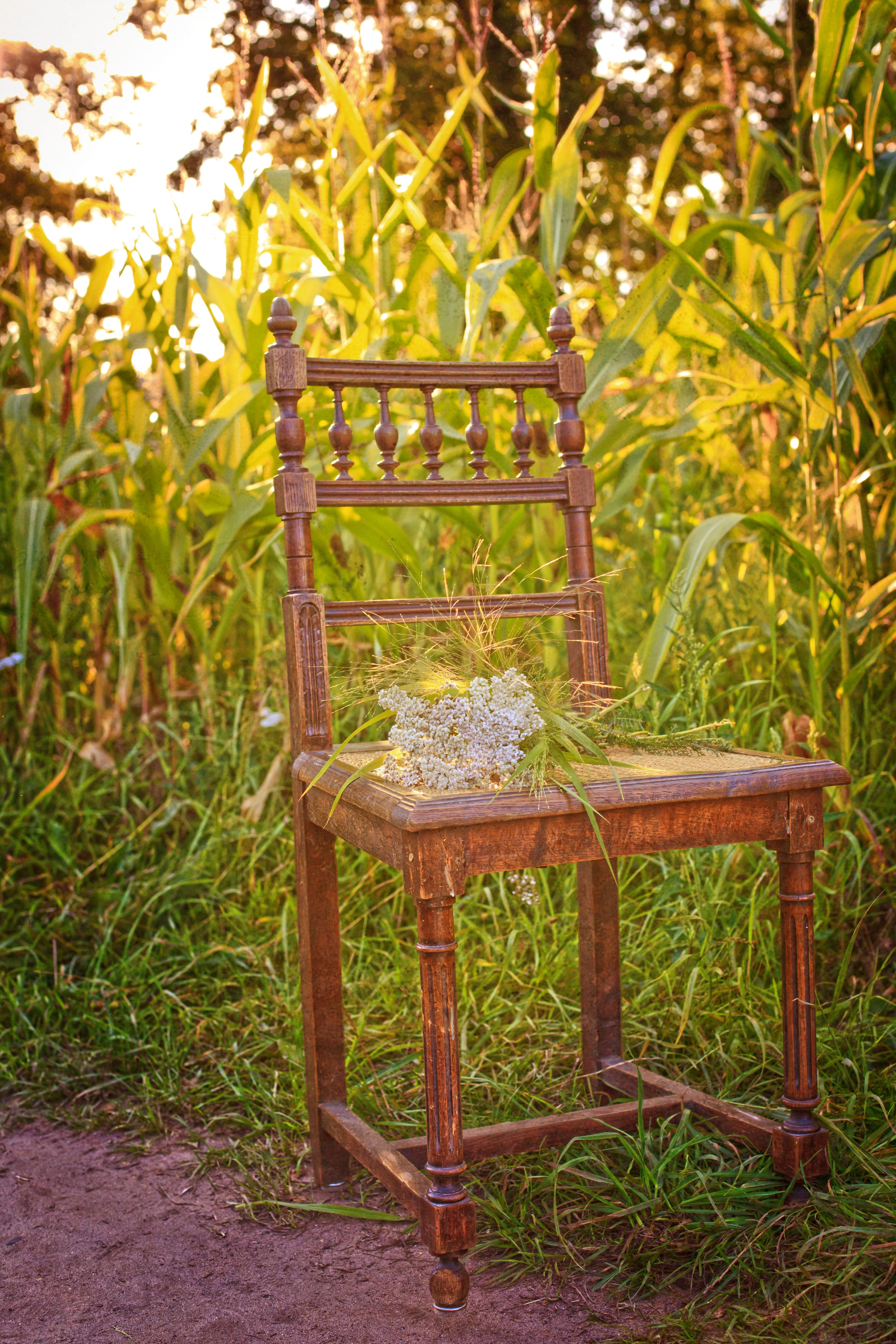 Natur Holz Sonne Sonnenuntergang Feld Blume Sessel Abend Mais Sich Ausruhen  Möbel Garten Freizeit Blumen Entspannung