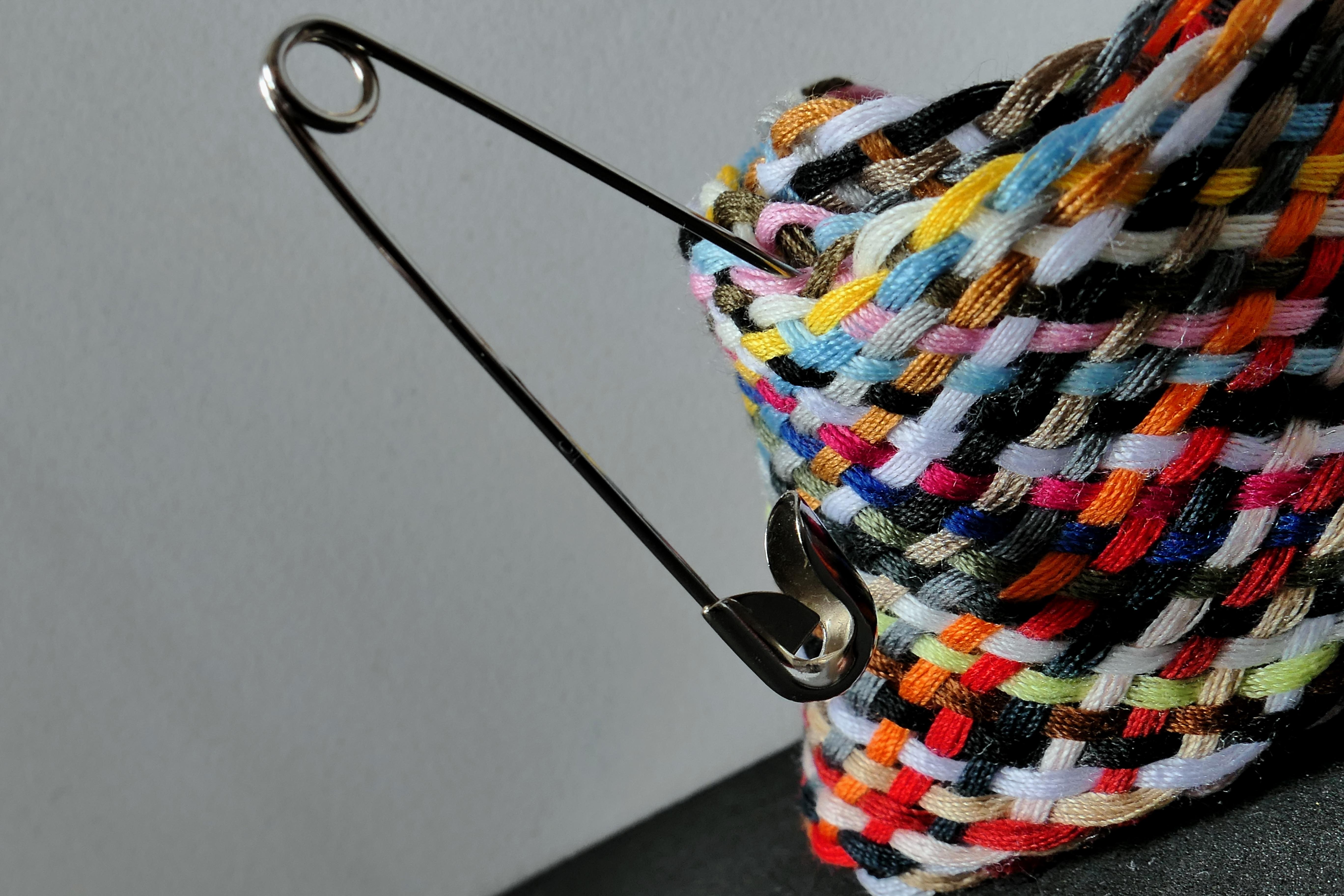 Kostenlose foto : Nadel, Muster, Farbe, bunt, schließen, Garn, Stoff ...
