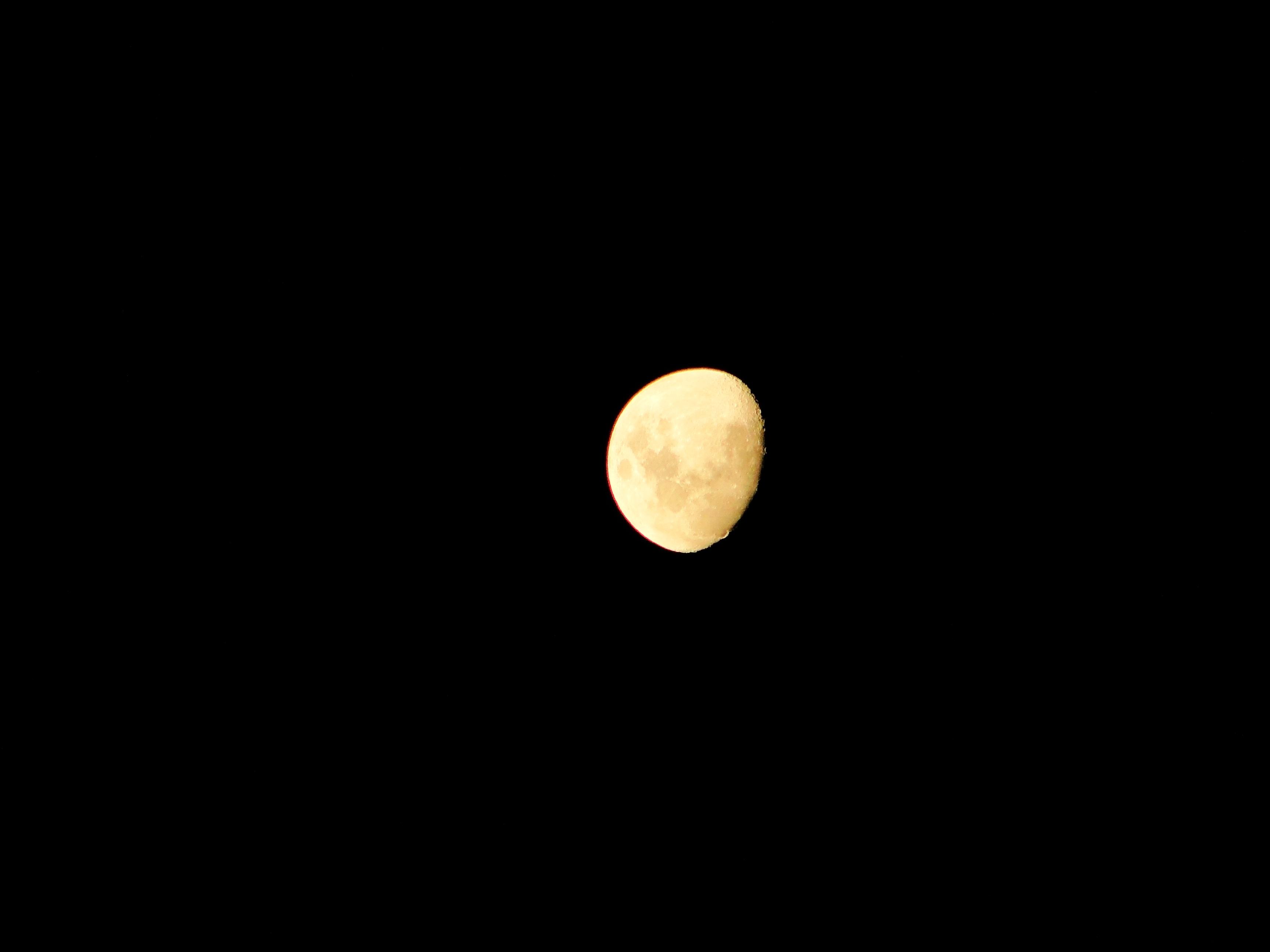 Gambar Malam Suasana Bulan Purnama Lingkaran Peristiwa Bulan