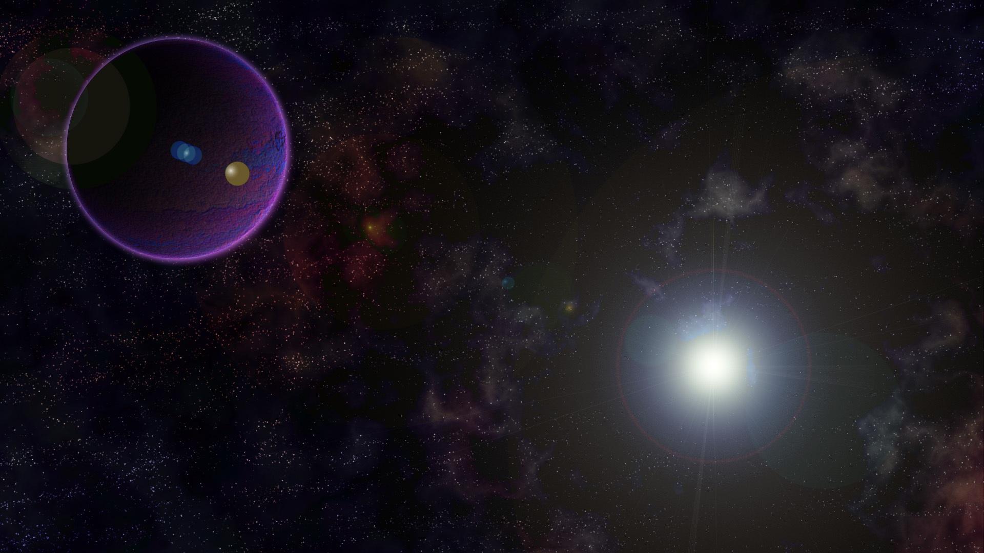 Gambar Suasana Ruang Kegelapan Galaksi Sinar Bulan Luar