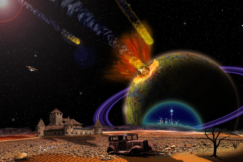 Обои Explosion, взрыв, space, Meteorite, метеорит. Космос foto 18