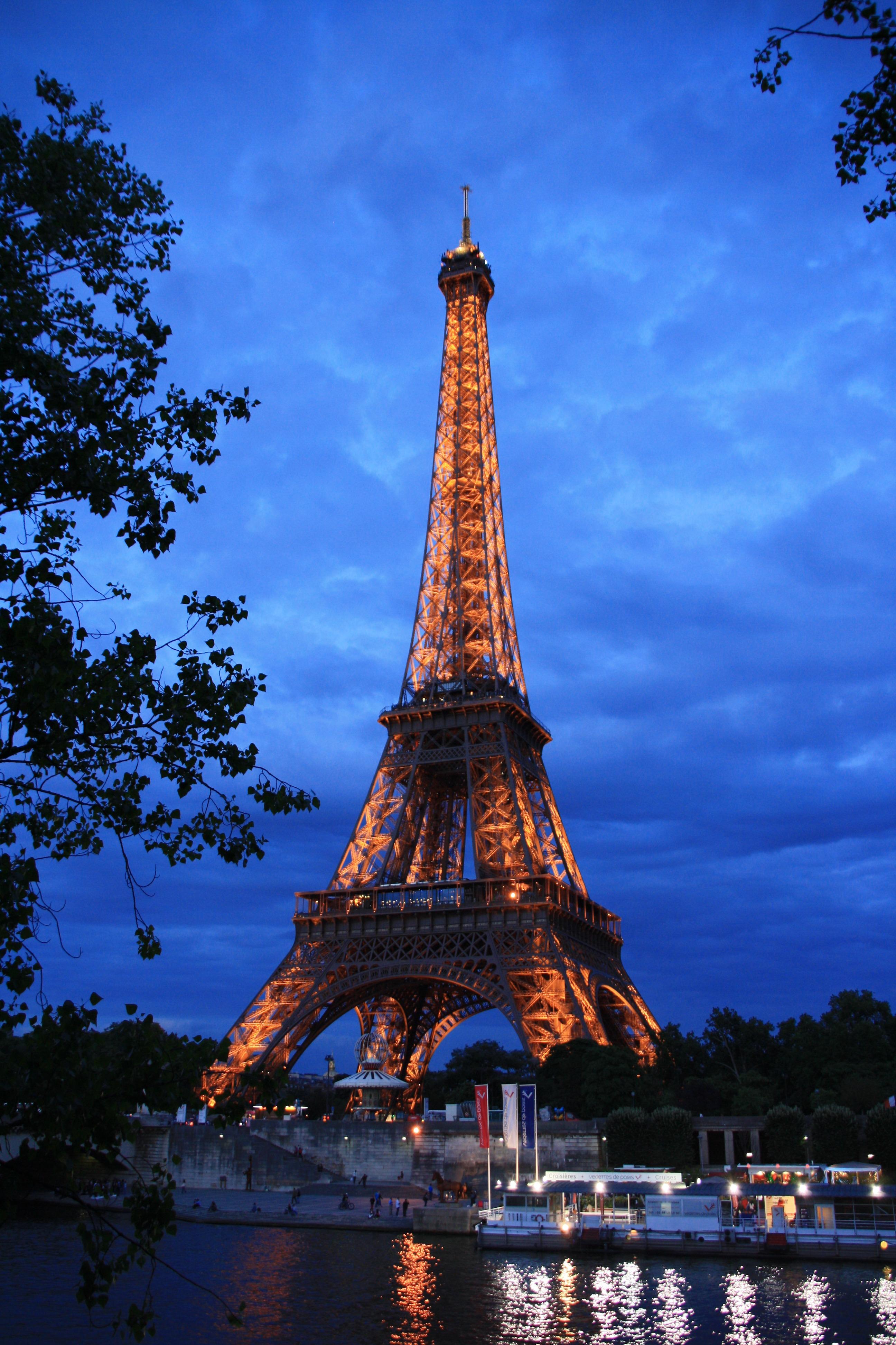 Fotos Gratis Noche Edificio Torre Eiffel Par 237 S