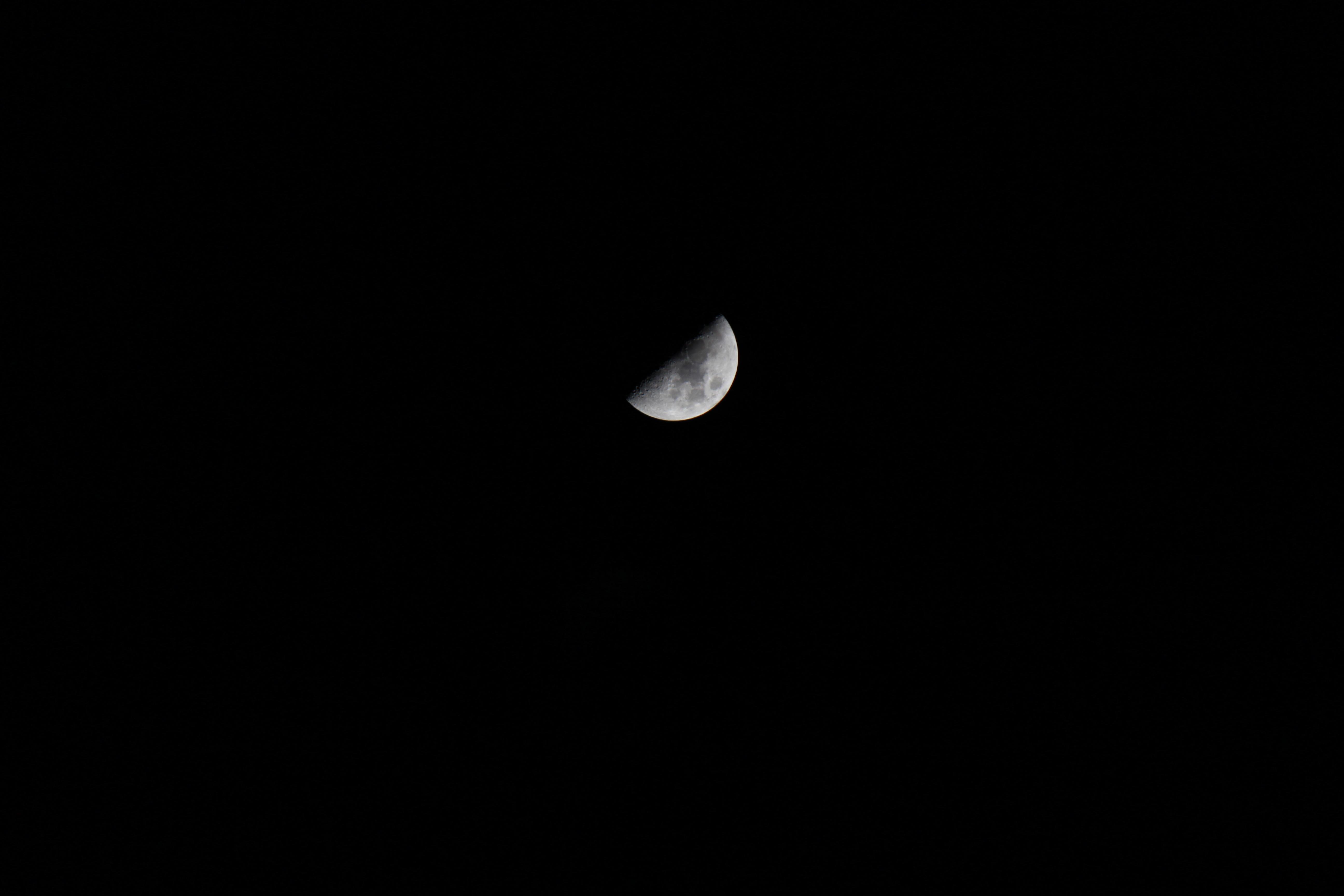 Gambar Malam Kegelapan Sinar Bulan Lingkaran Bulan Sabit