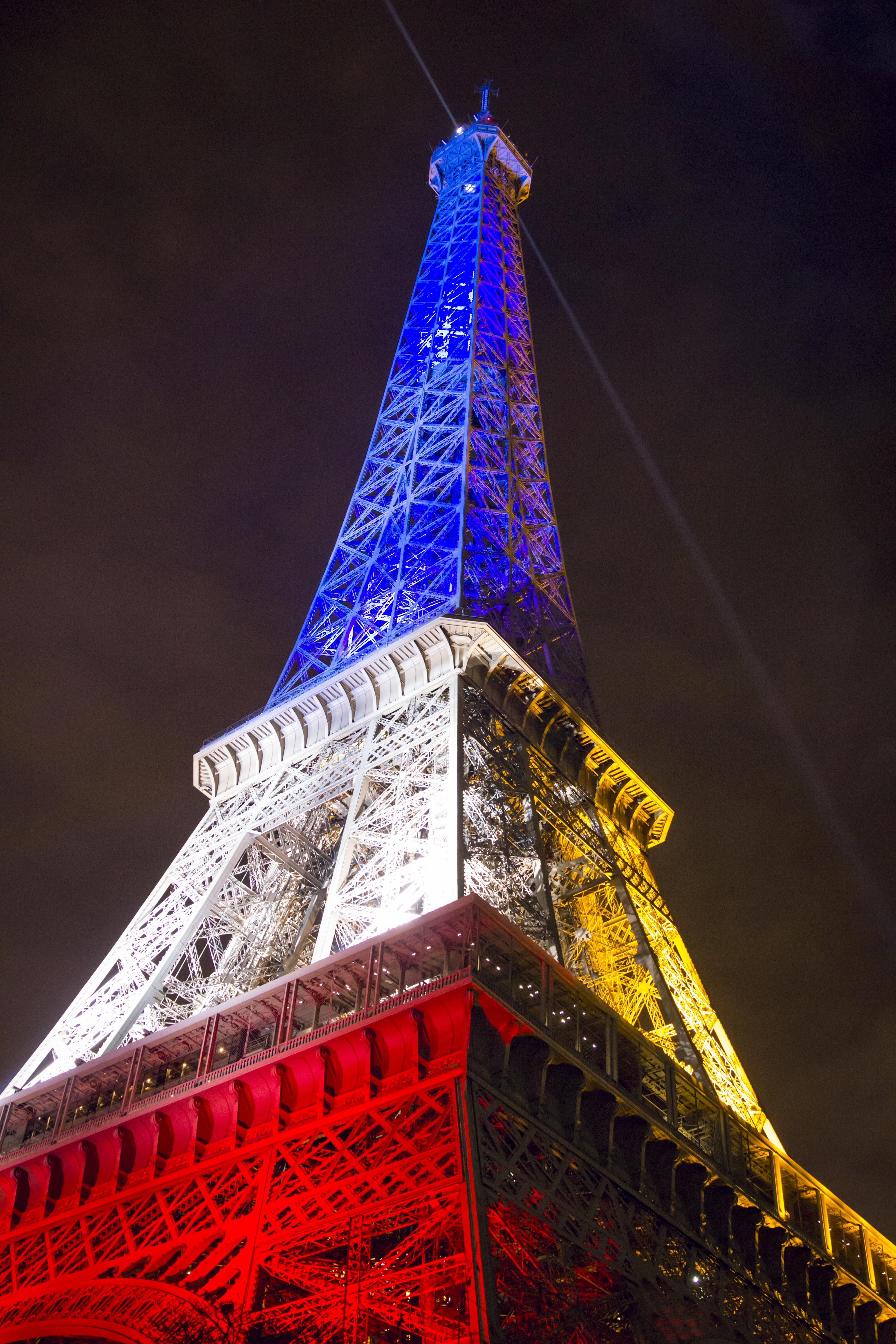 night eiffel tower paris france europe tower flag landmark tourism christmas decoration eiffel french european famous