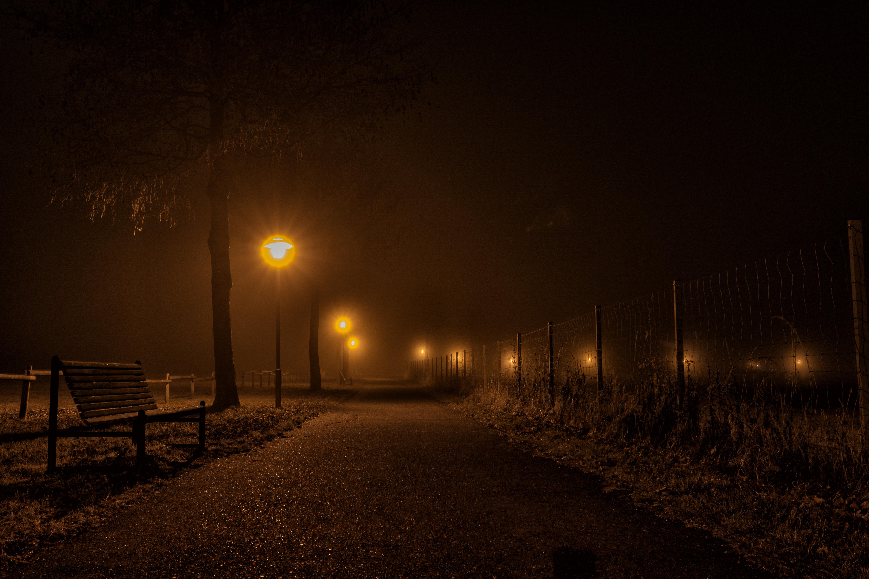 Темная улица фонари картинки