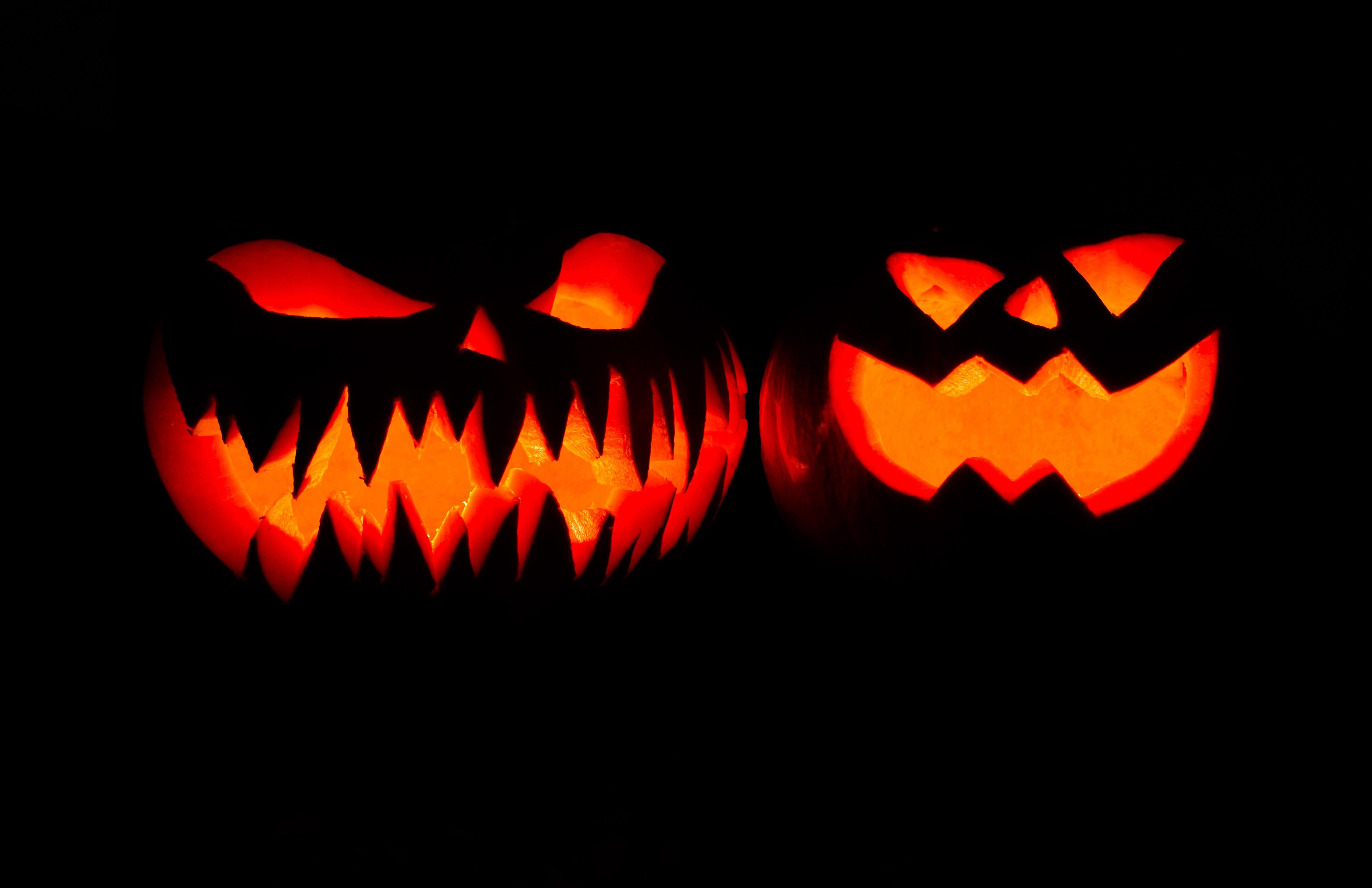 Images gratuites nuit tomber effrayant orange l 39 automne halloween vacances police de - Citrouille effrayante ...