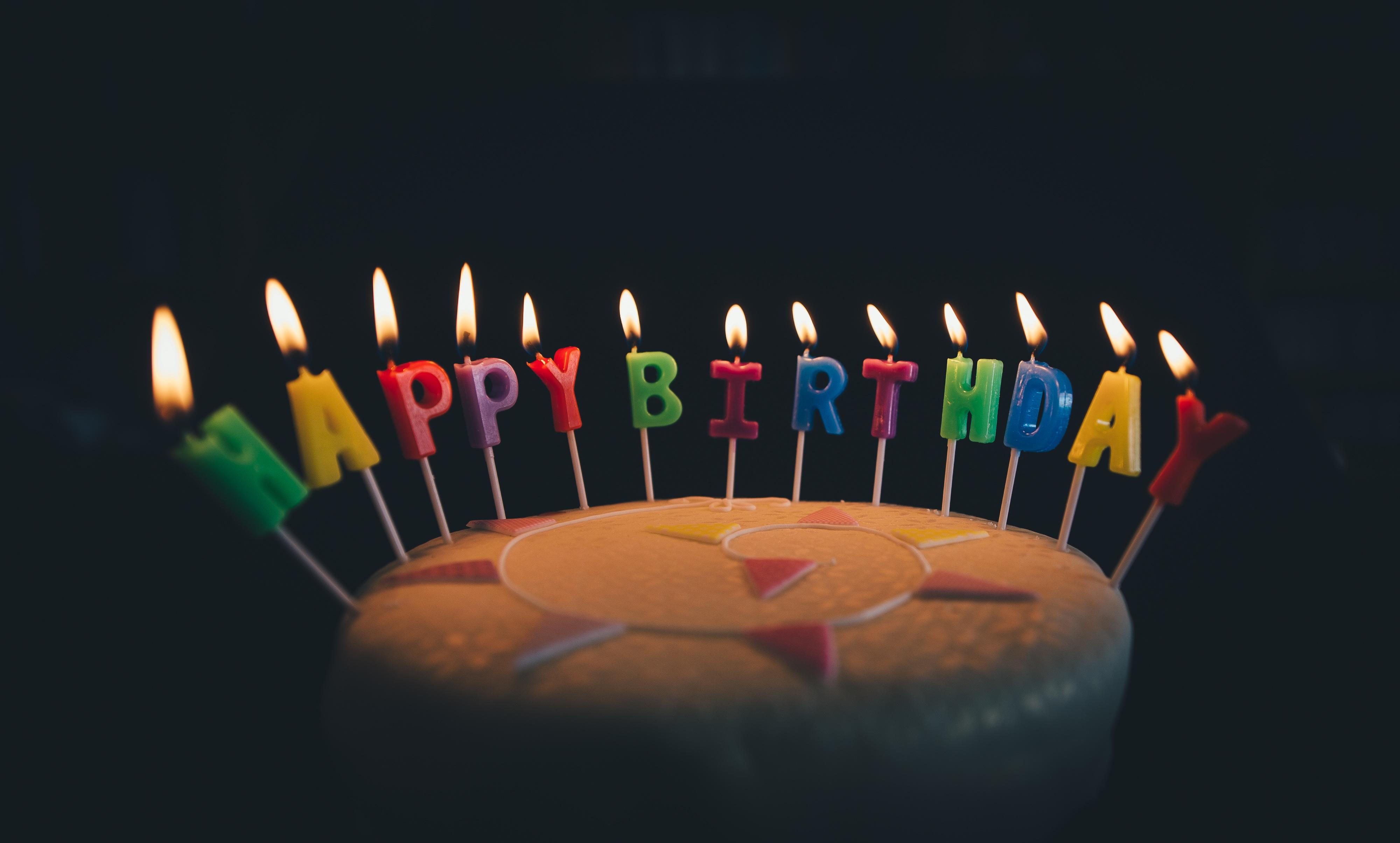 Camera Birthday Cake Candles