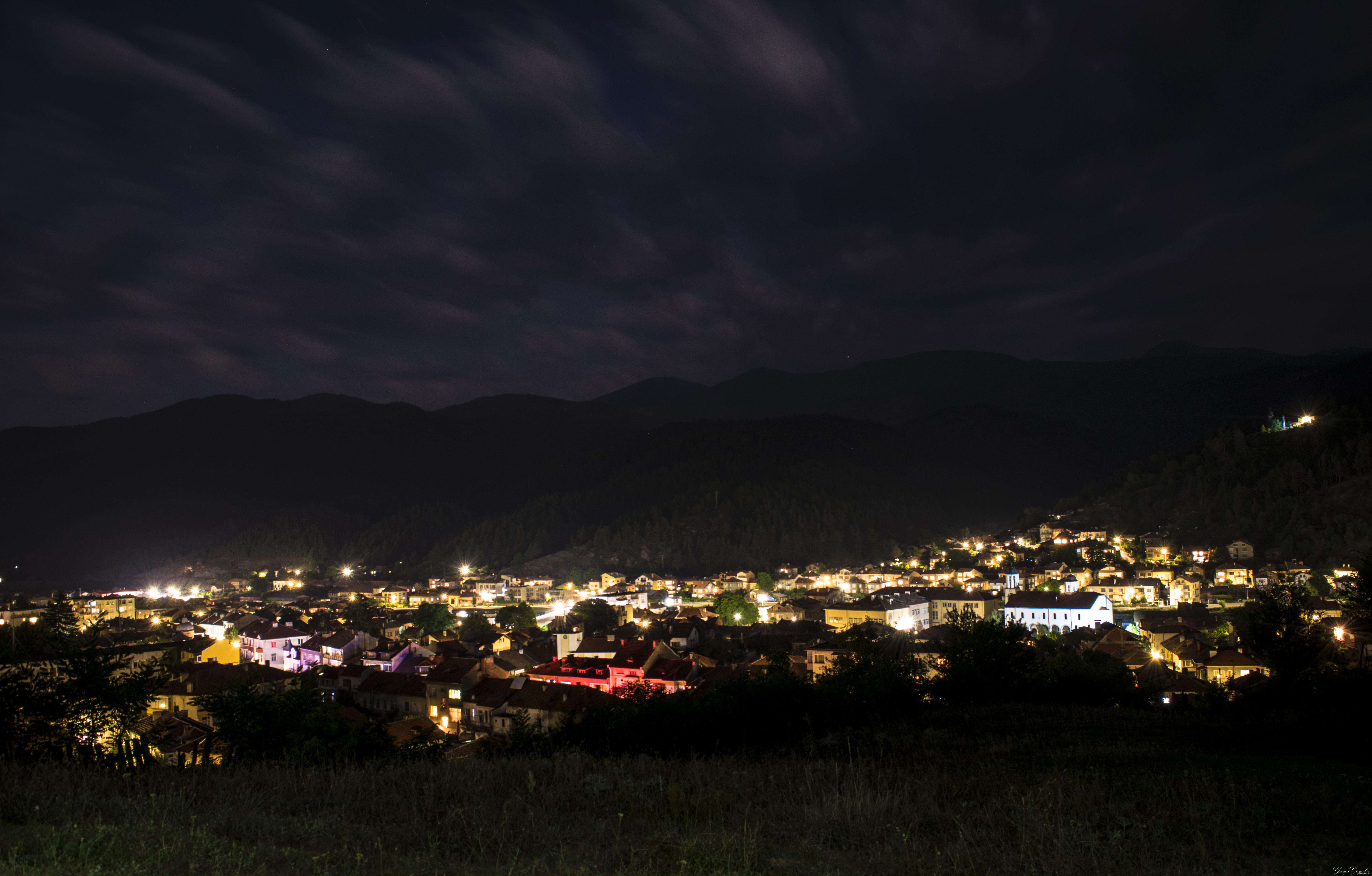 Gratuites nuit Nikon ville des nuages beau Montagne