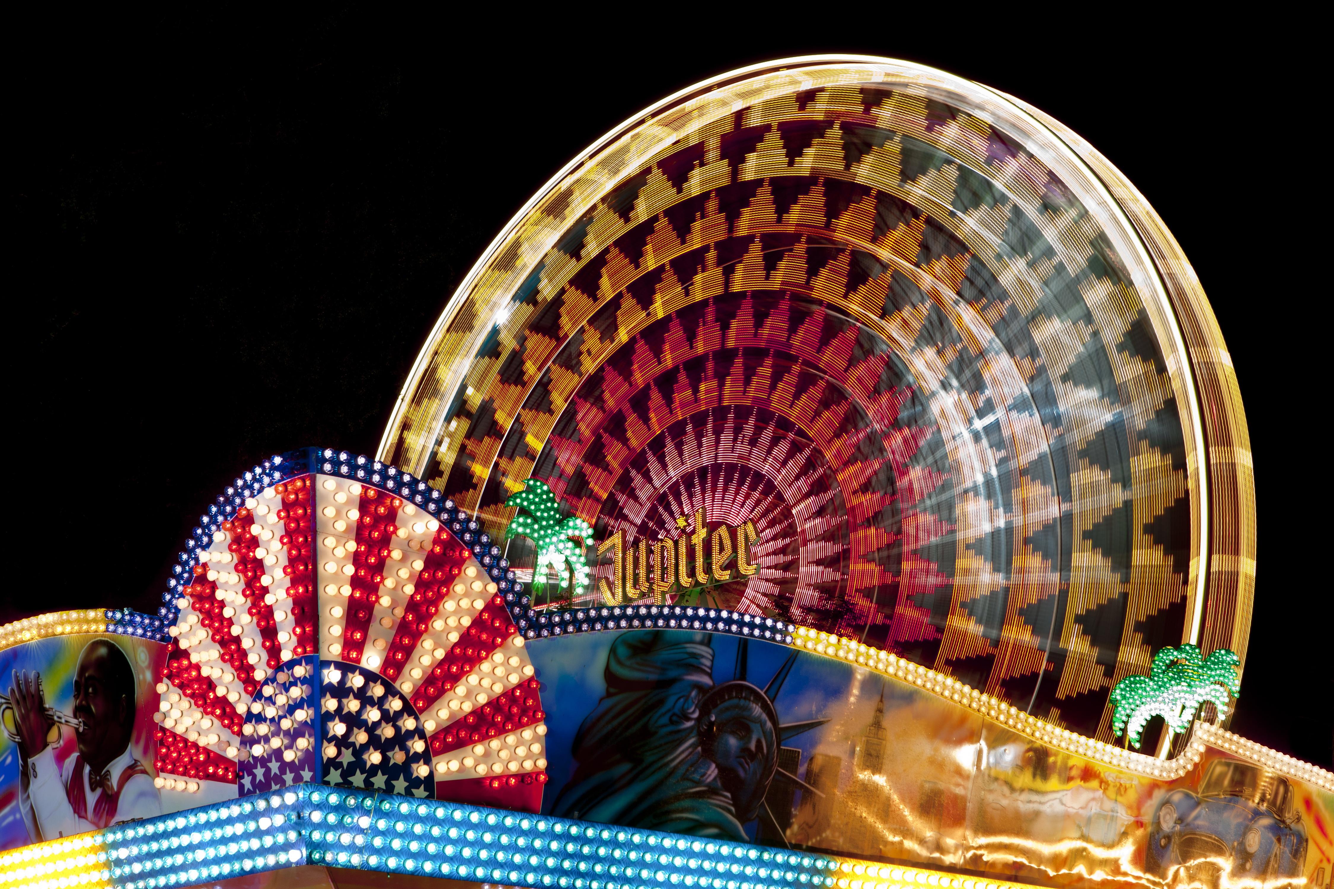 Free Images Night Ferris Wheel Carnival Amusement