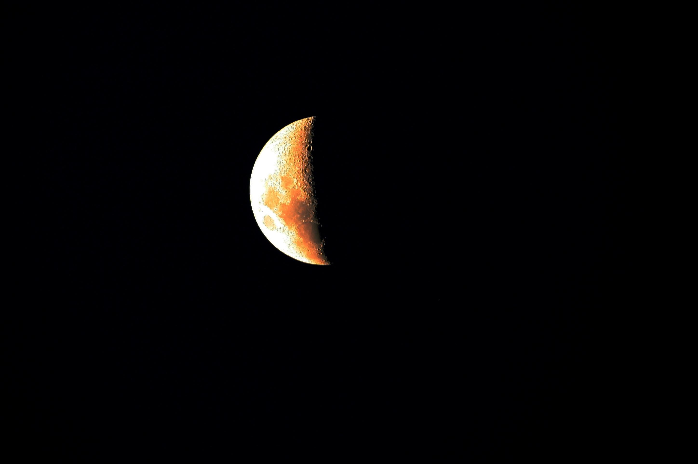 Gambar Malam Bulat Kegelapan Lingkaran Bulan Sabit Bola
