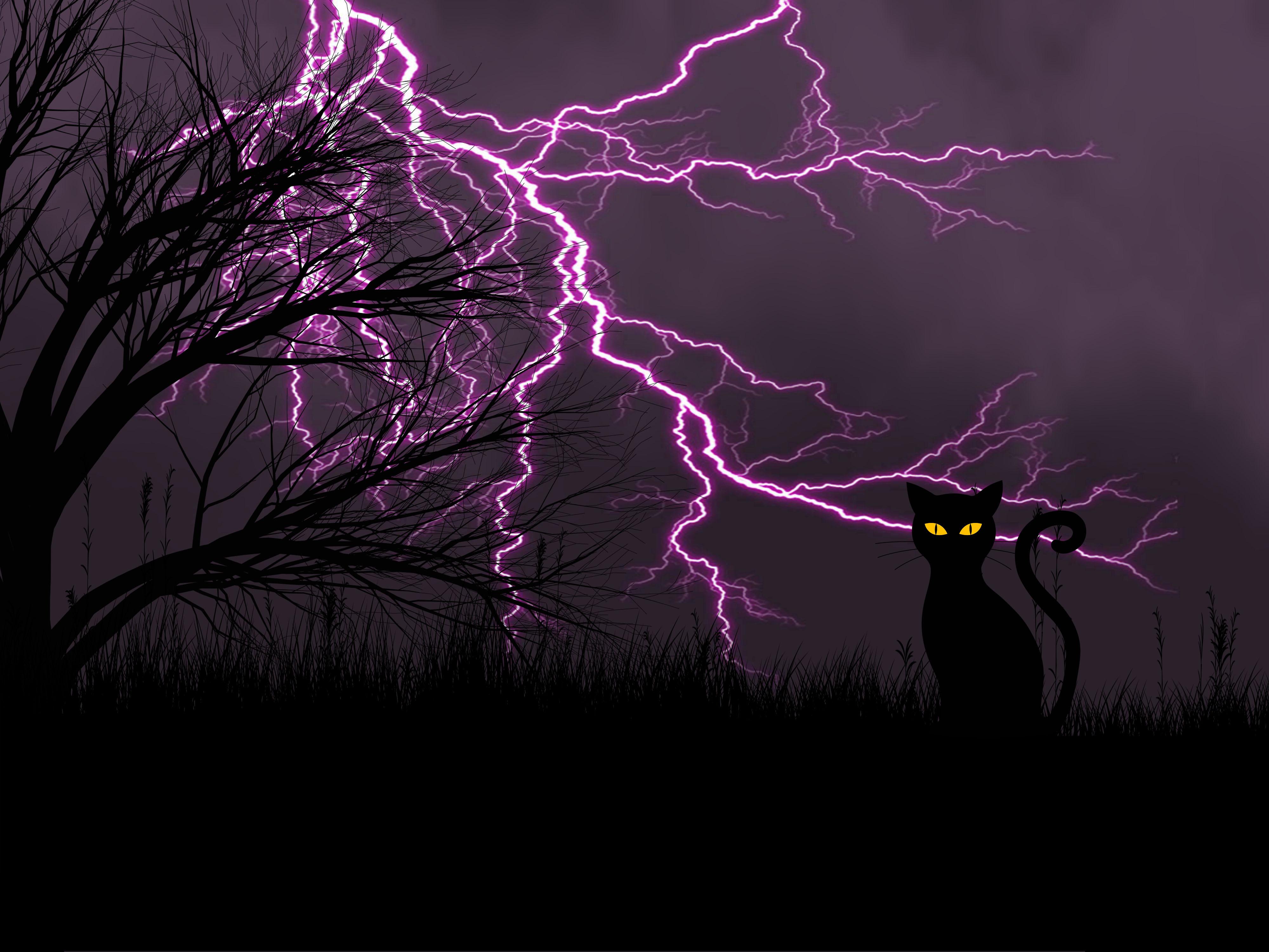 Banco De Imagens Noite Tempestade Relampago Trevas Desenhar